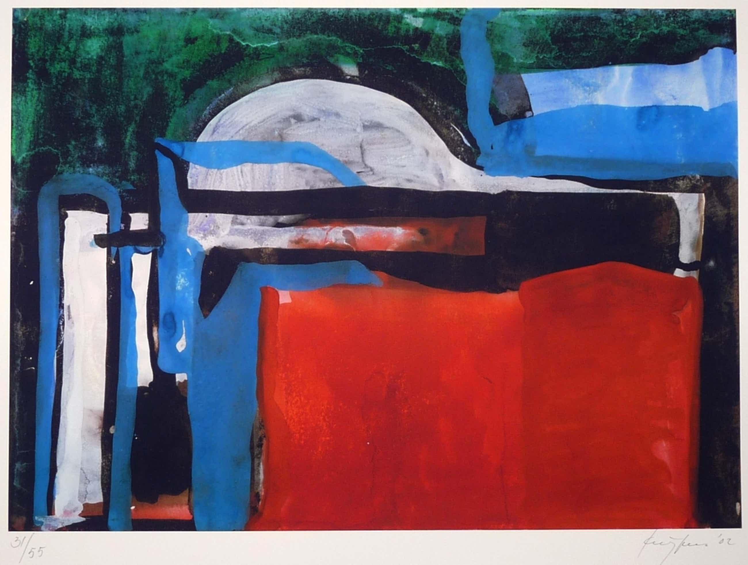Theo Kuijpers: Giclee, Abstract, Gesigneerd, 2002 kopen? Bied vanaf 95!