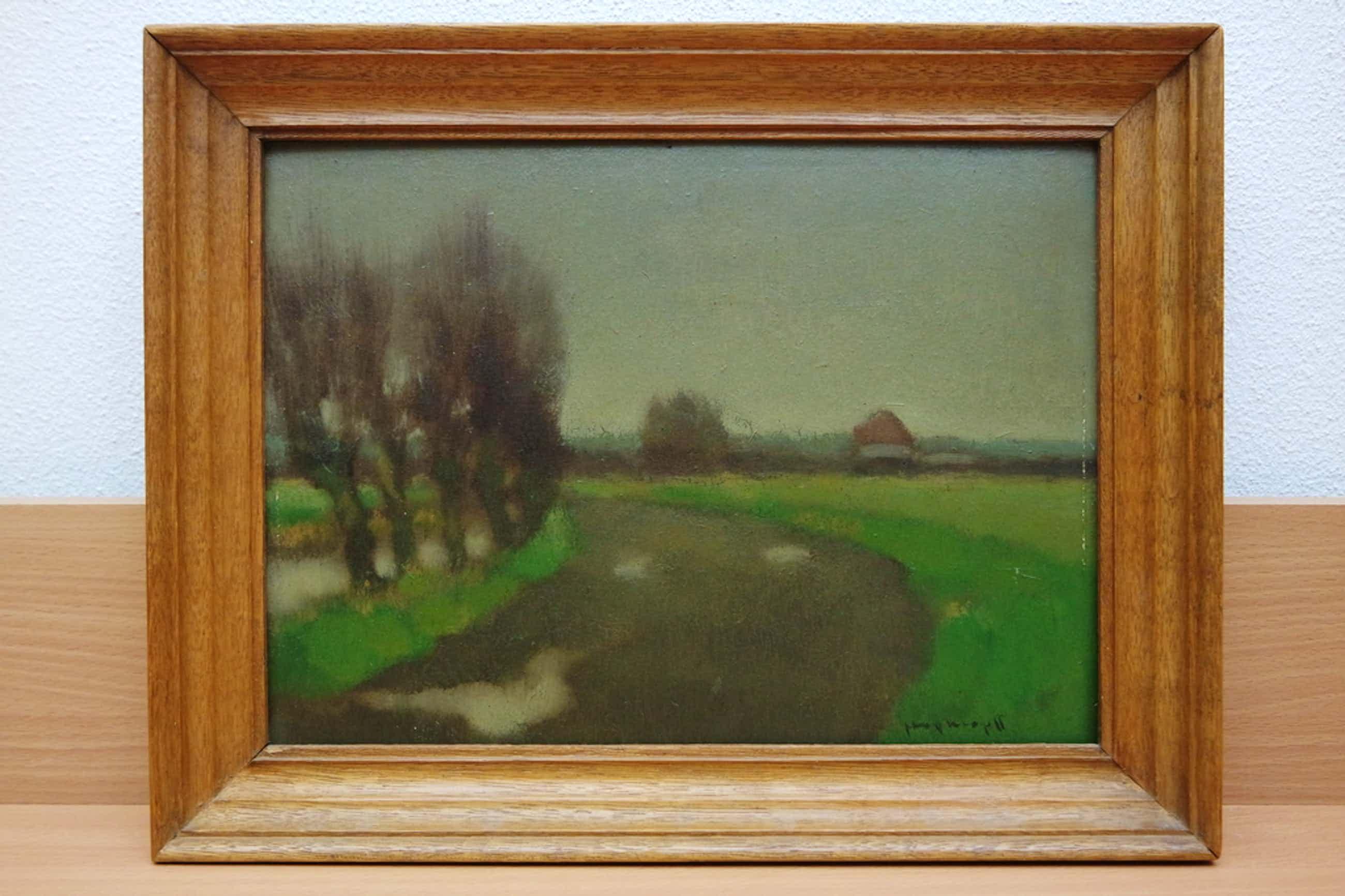 Joop Kropff (1892-1979) - olieverf op board - landschap Westland kopen? Bied vanaf 225!