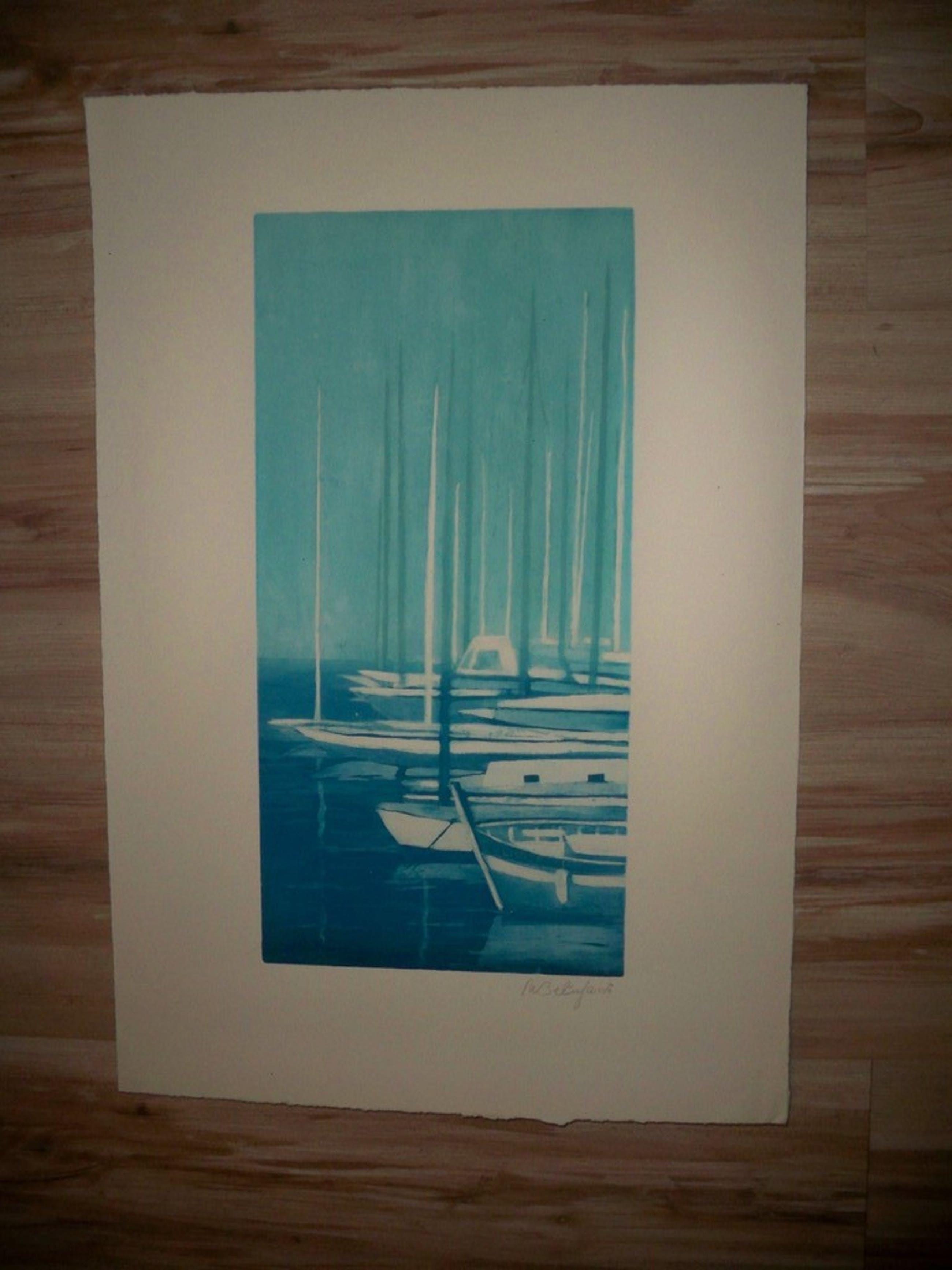Willy Belinfante - Blue Marine / Montagne - Kleurenets kopen? Bied vanaf 35!