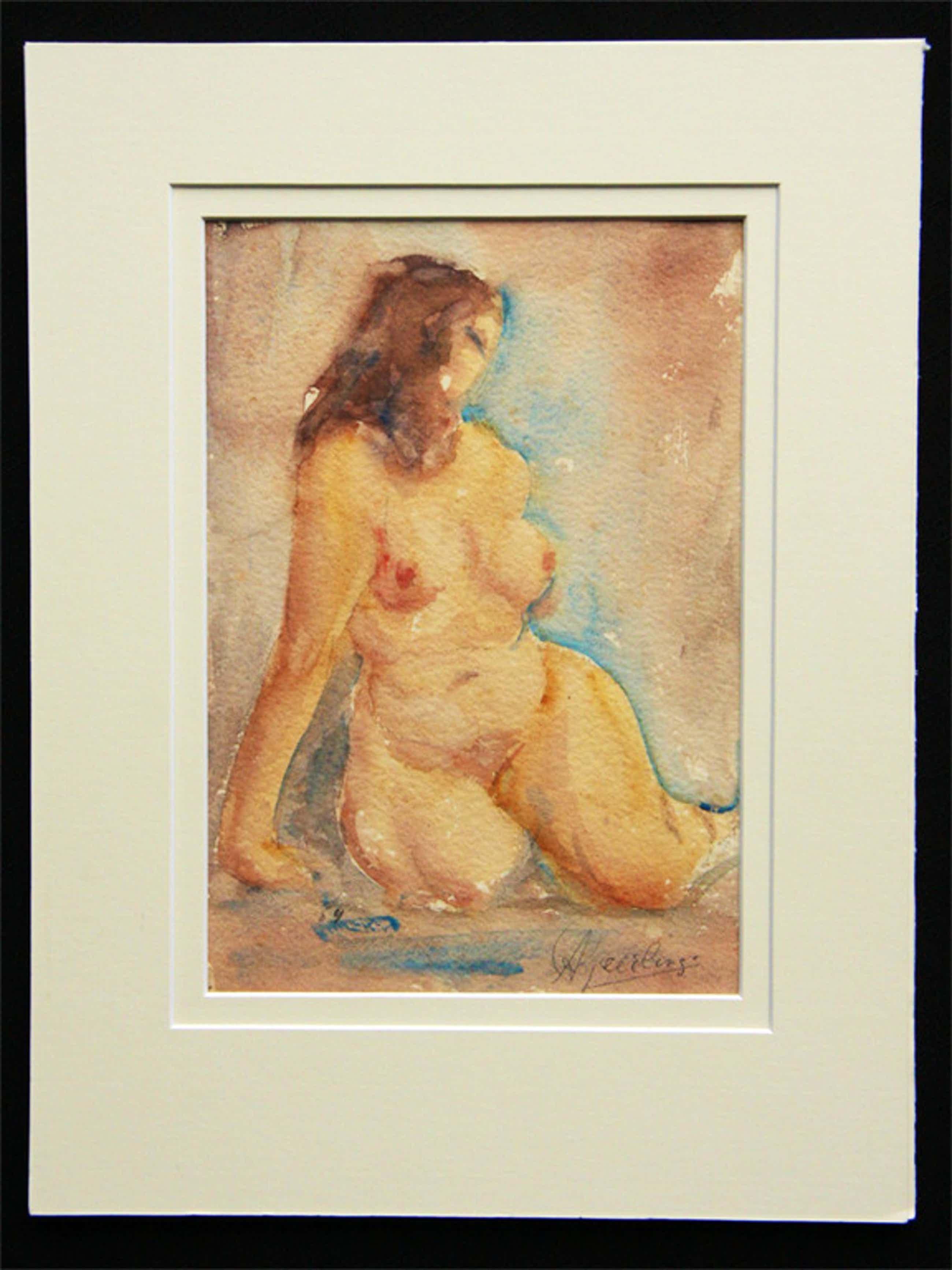 Anton Geerlings, aquarel, Scheherazade kopen? Bied vanaf 60!