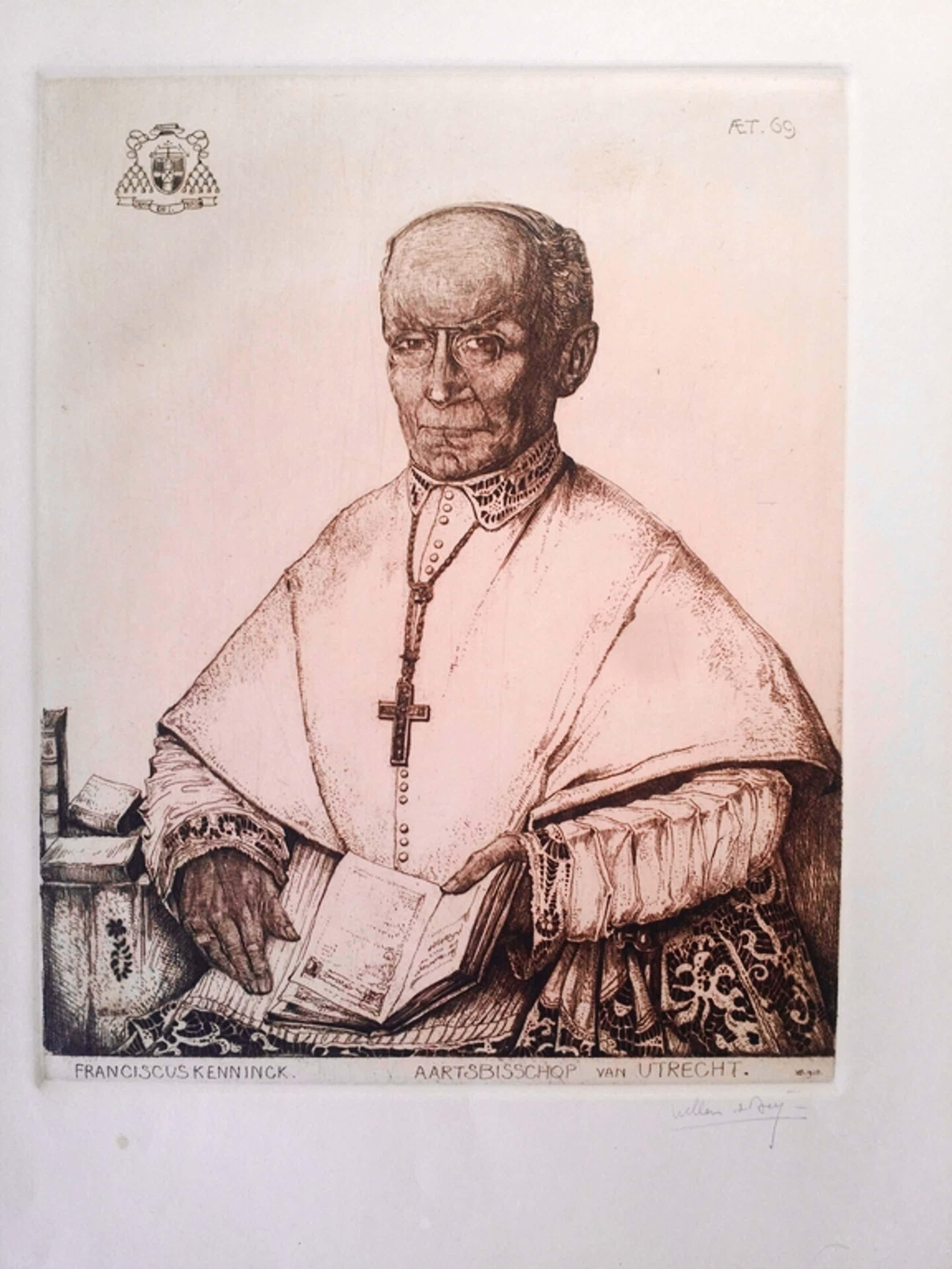 Willem van den Berg - Willem van den Berg. Litho. Gesigneerd. Aartsbisschop Kenninck Utrecht. kopen? Bied vanaf 39!