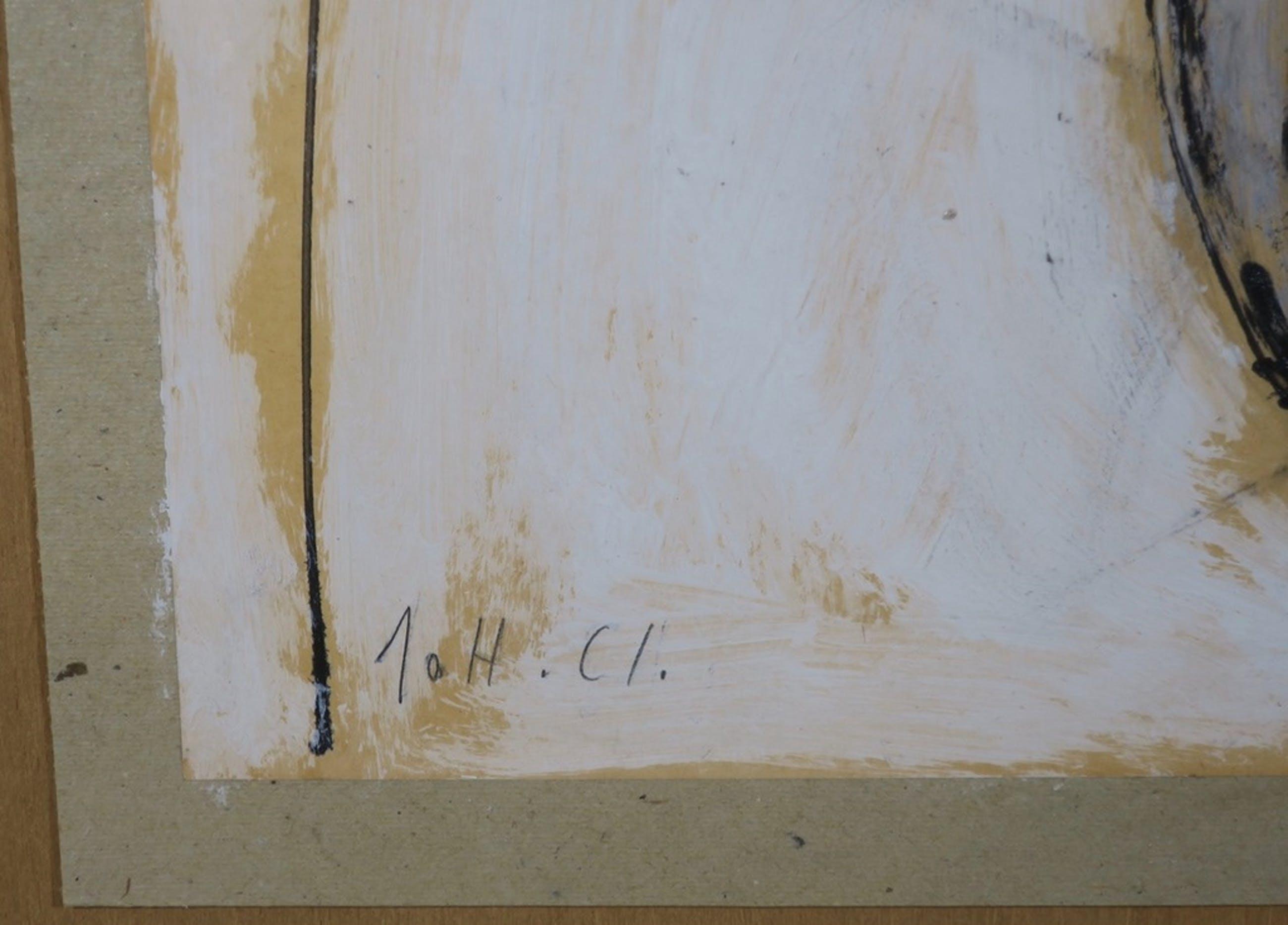 Johan Claassen: Acryl op papier, Uiteenvallende hond - Ingelijst kopen? Bied vanaf 150!