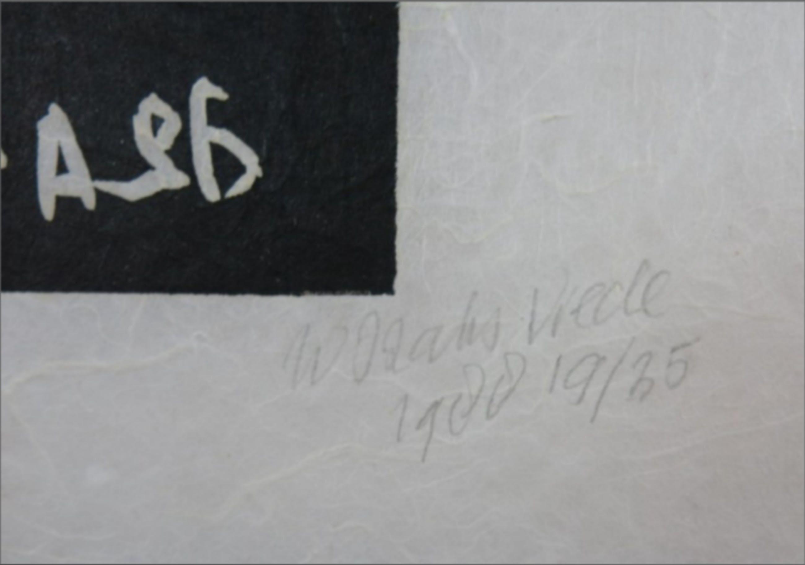 Wim Izaks: Lino op rijstpapier, Vrede (zwart) kopen? Bied vanaf 1!