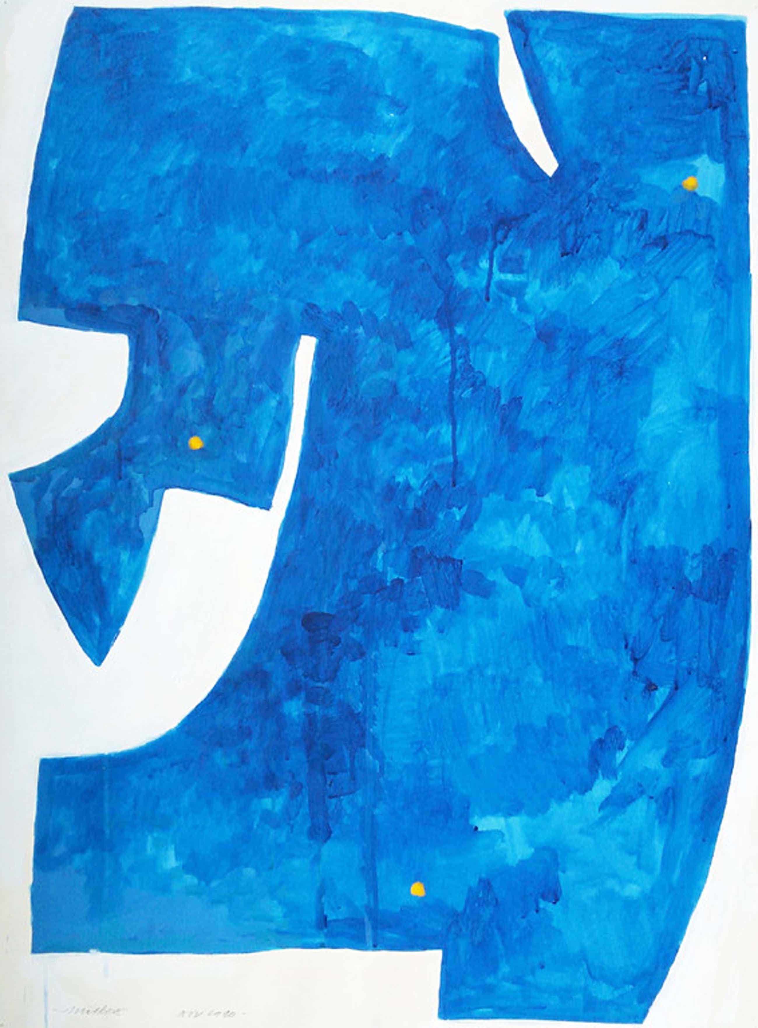 Willem Snitker - Big Blue, gouache kopen? Bied vanaf 60!