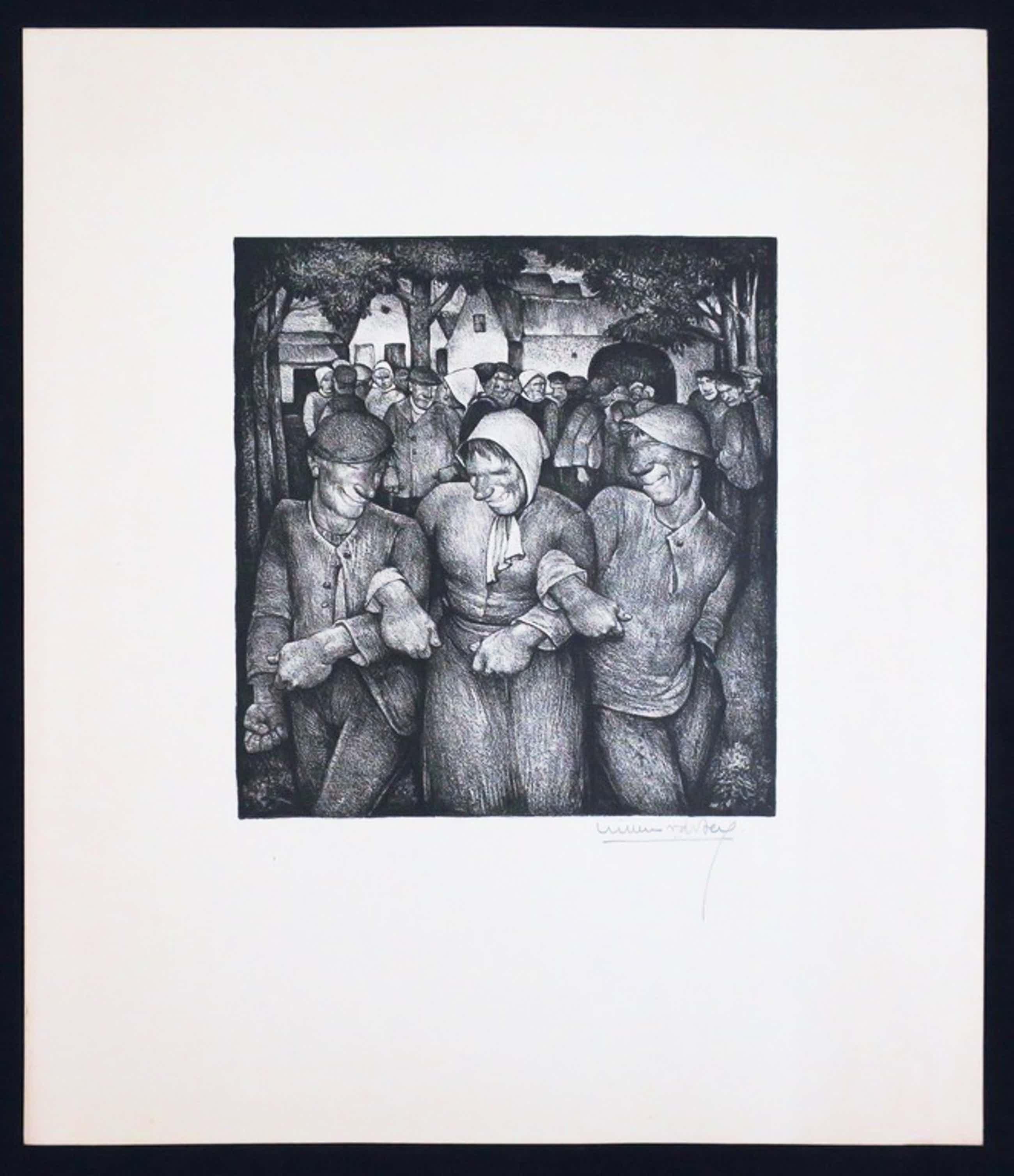 Willem van den Berg: Litho, Compositie met figuren kopen? Bied vanaf 50!