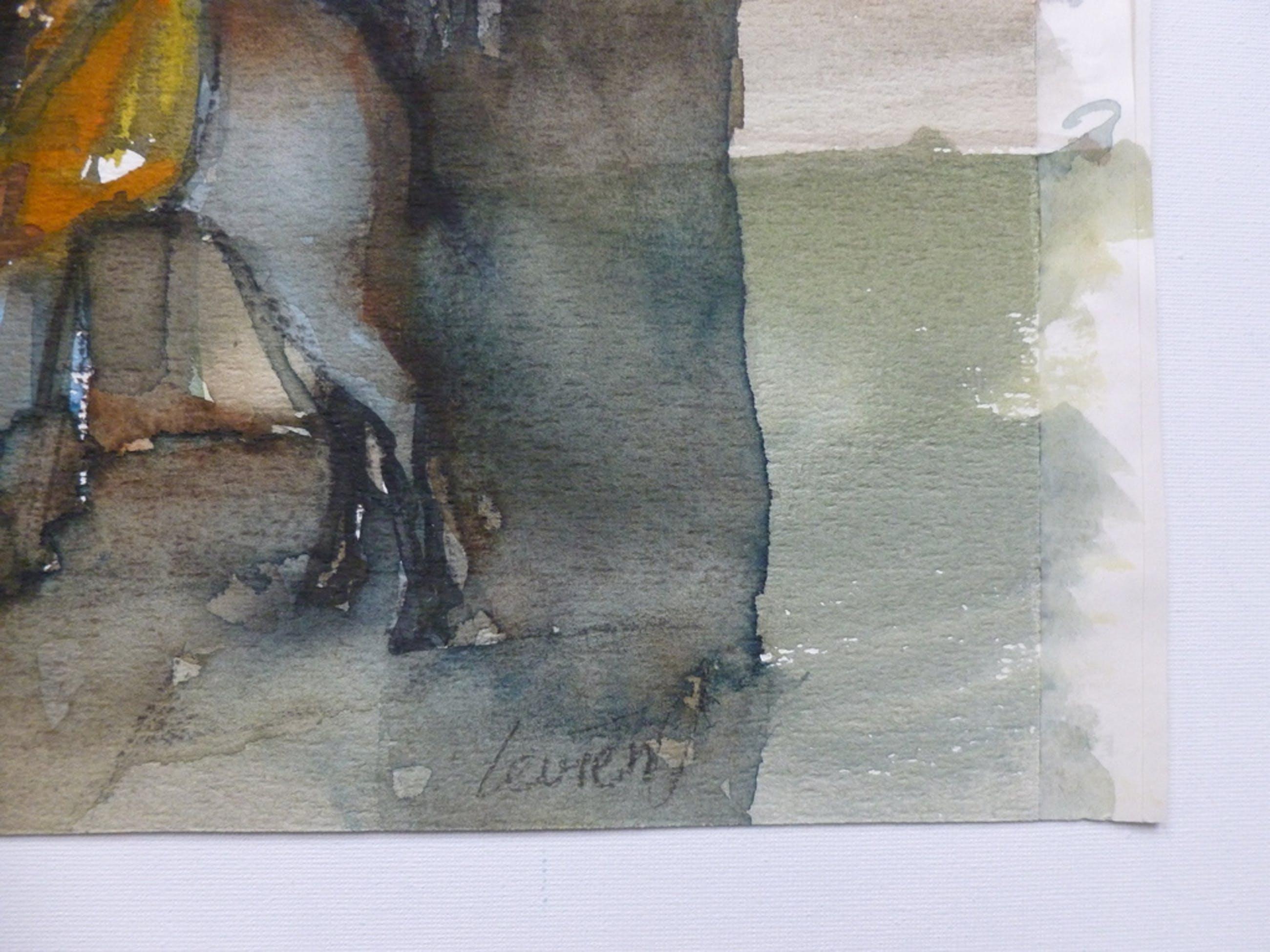 Levien Verschage, aquarel: Indiase vrouw met ezel kopen? Bied vanaf 50!