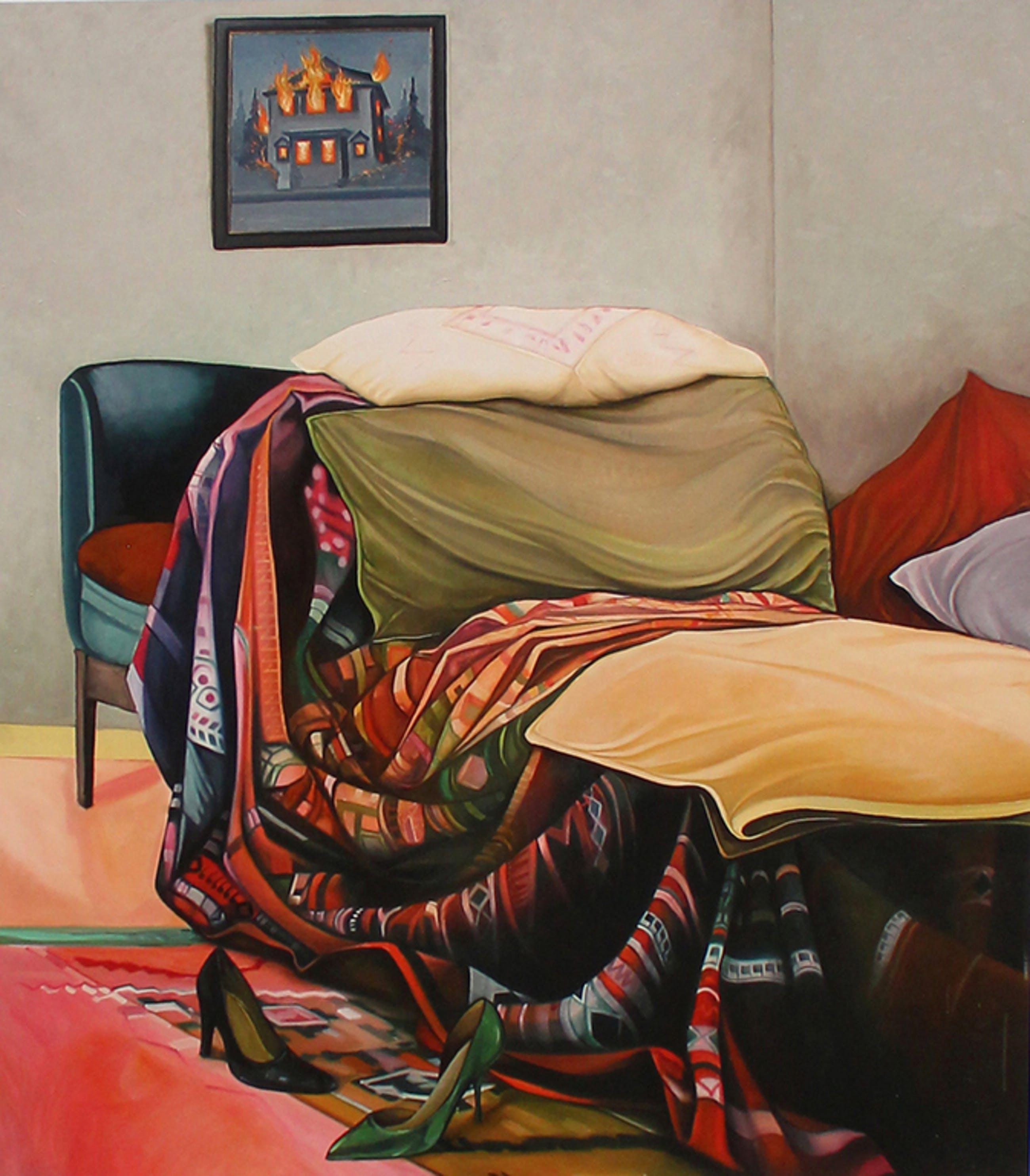 Bruno Bruni - Bruno Bruni. -Psycho-Couch- Heel mooie Pigmentdruk. Gesigneerd. 2017. kopen? Bied vanaf 87!