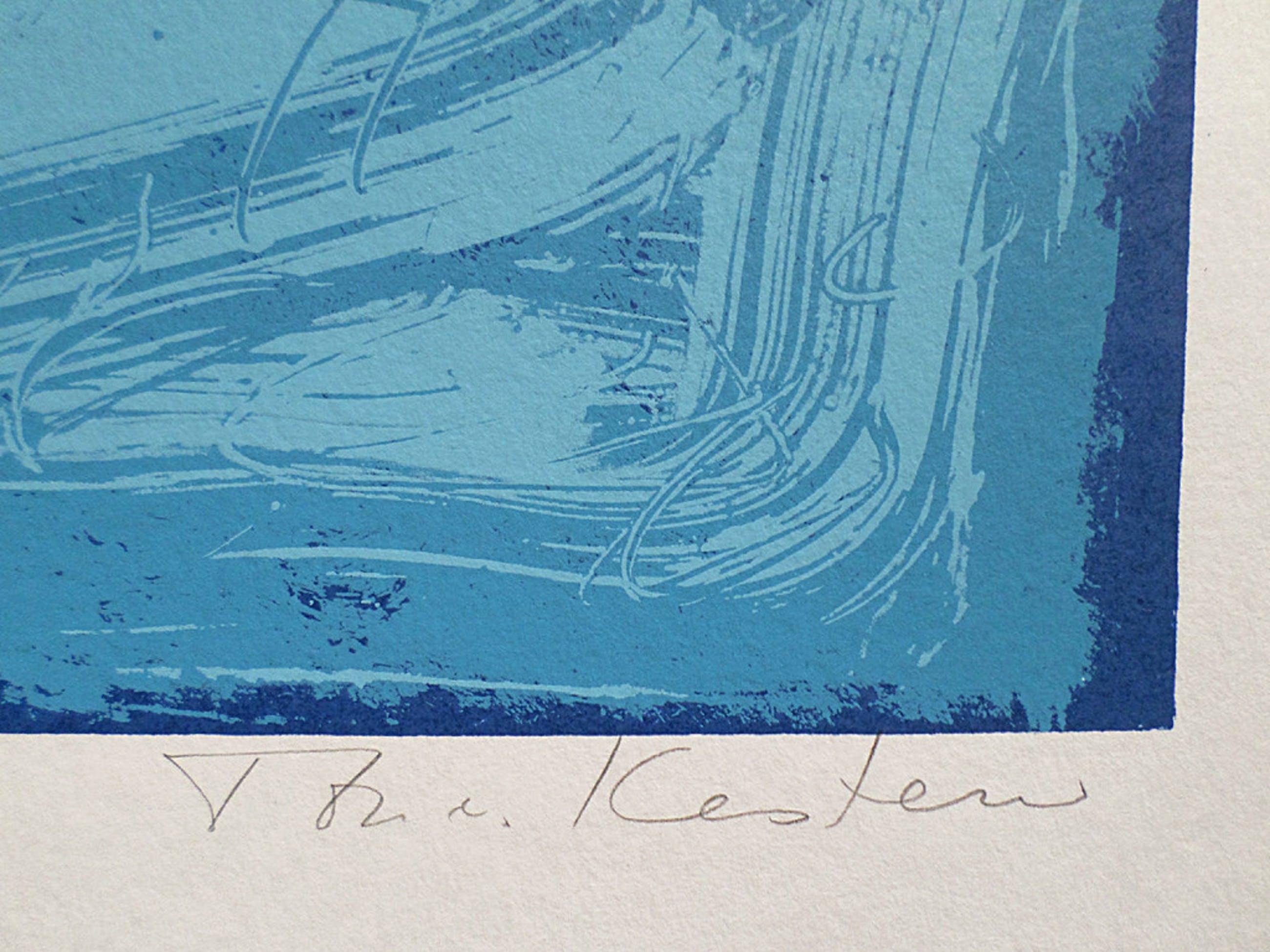 Ton van Kesteren - Abstract, zeefdruk (groot) kopen? Bied vanaf 35!