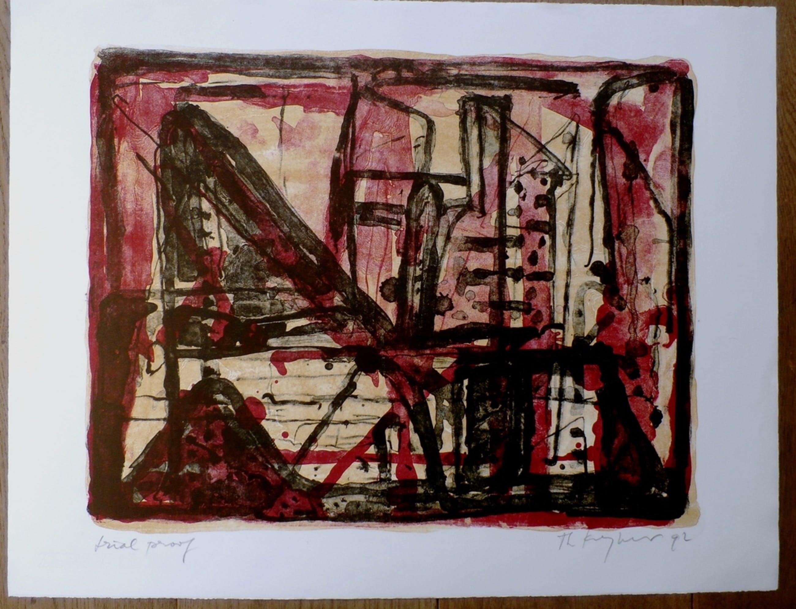 Theo Kuijpers, Kleurenlitho, handgesigneerd, 1992 kopen? Bied vanaf 60!