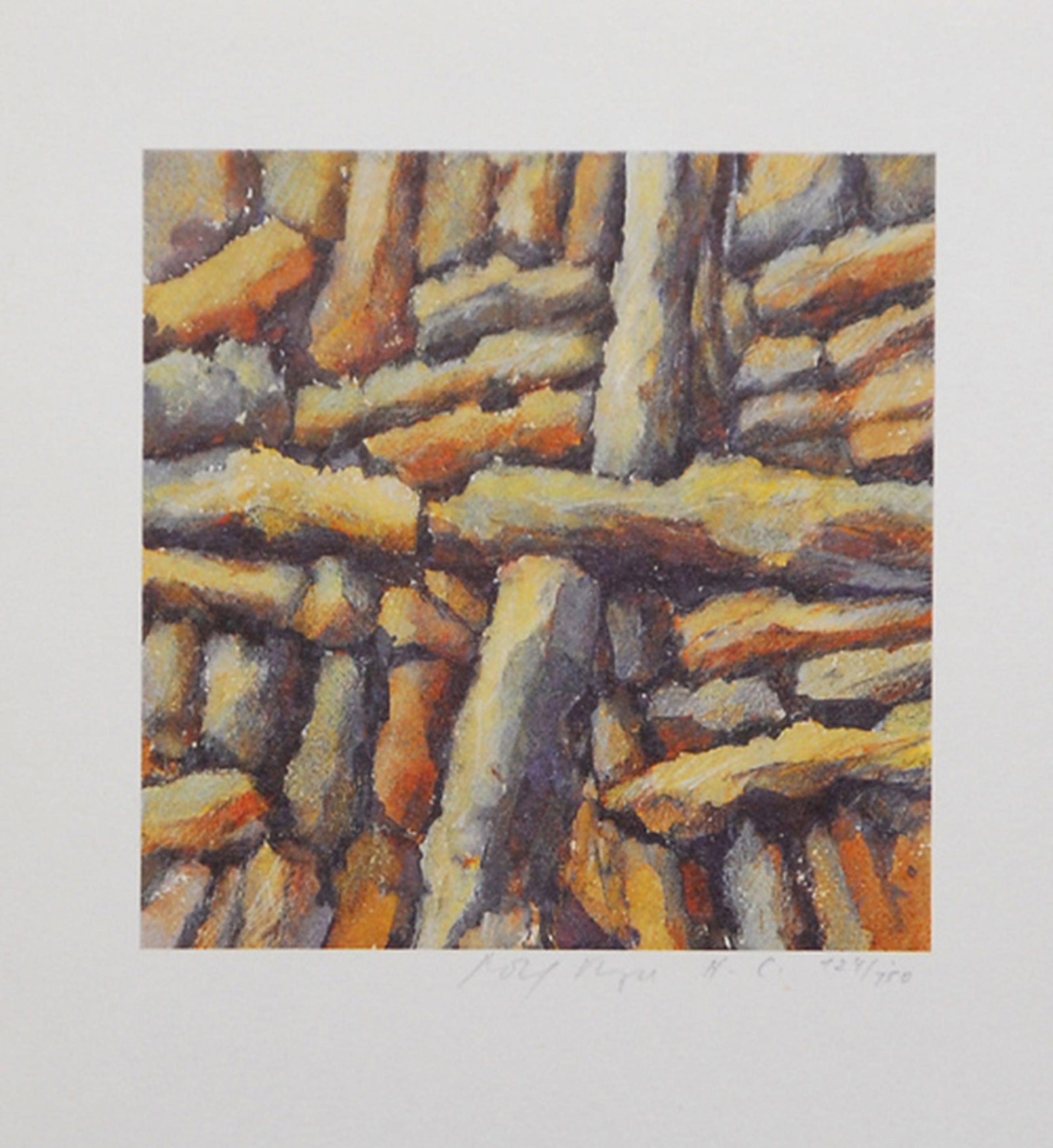 Rolf Meyn: Lithografie, Abstracte Compositie kopen? Bied vanaf 5!