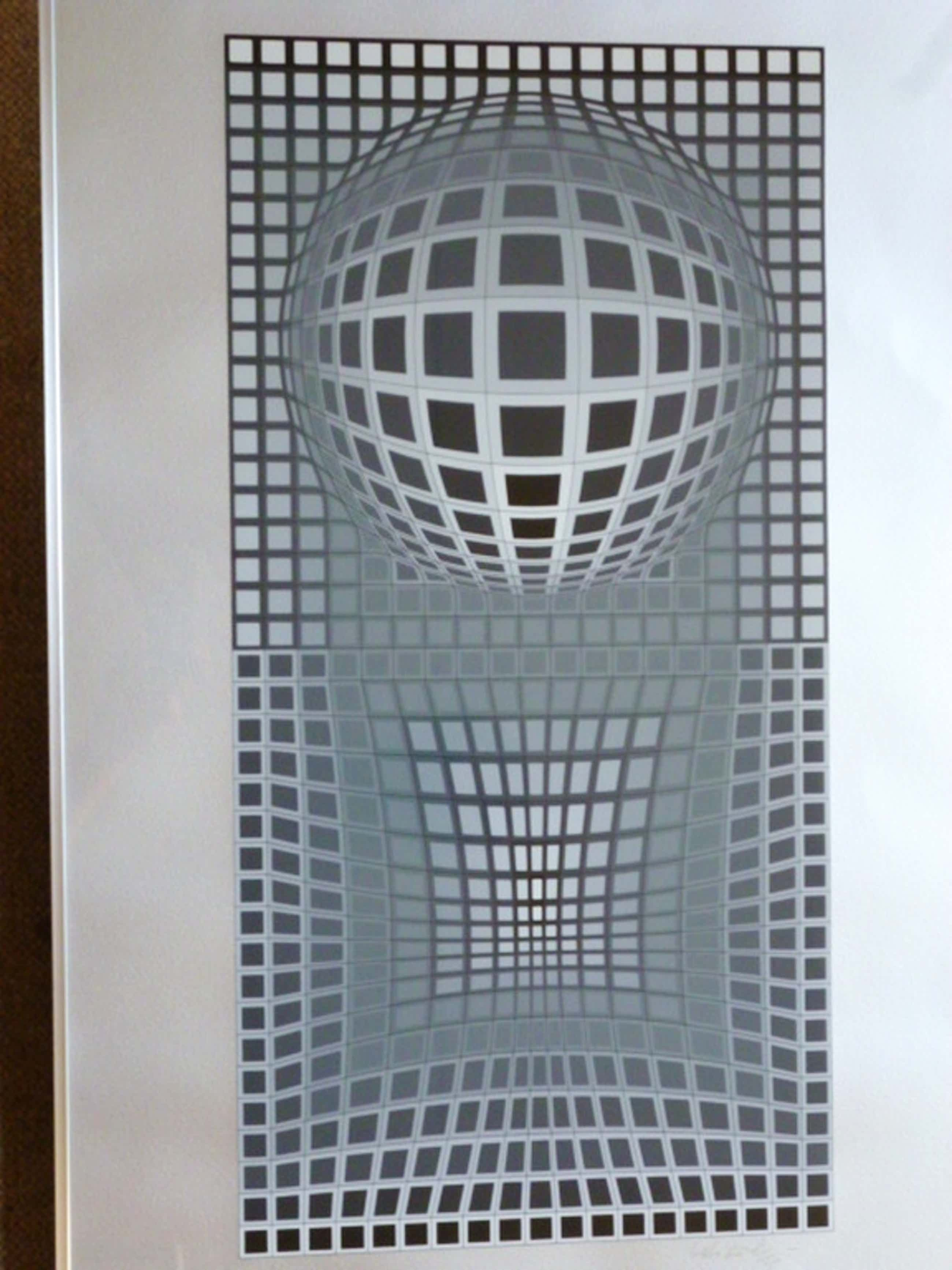 Victor Vasarely - zeefdruk - Geometrische voorstelling kopen? Bied vanaf 375!