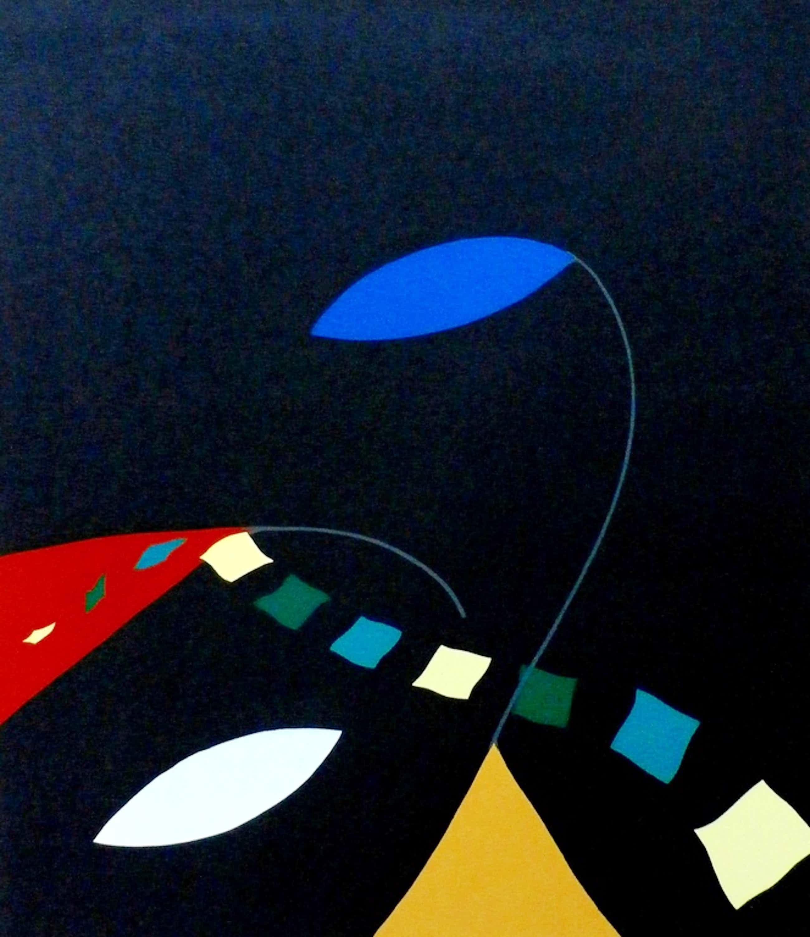 Doris Groeneveld - Zeefdruk: abstract - 1987 kopen? Bied vanaf 50!