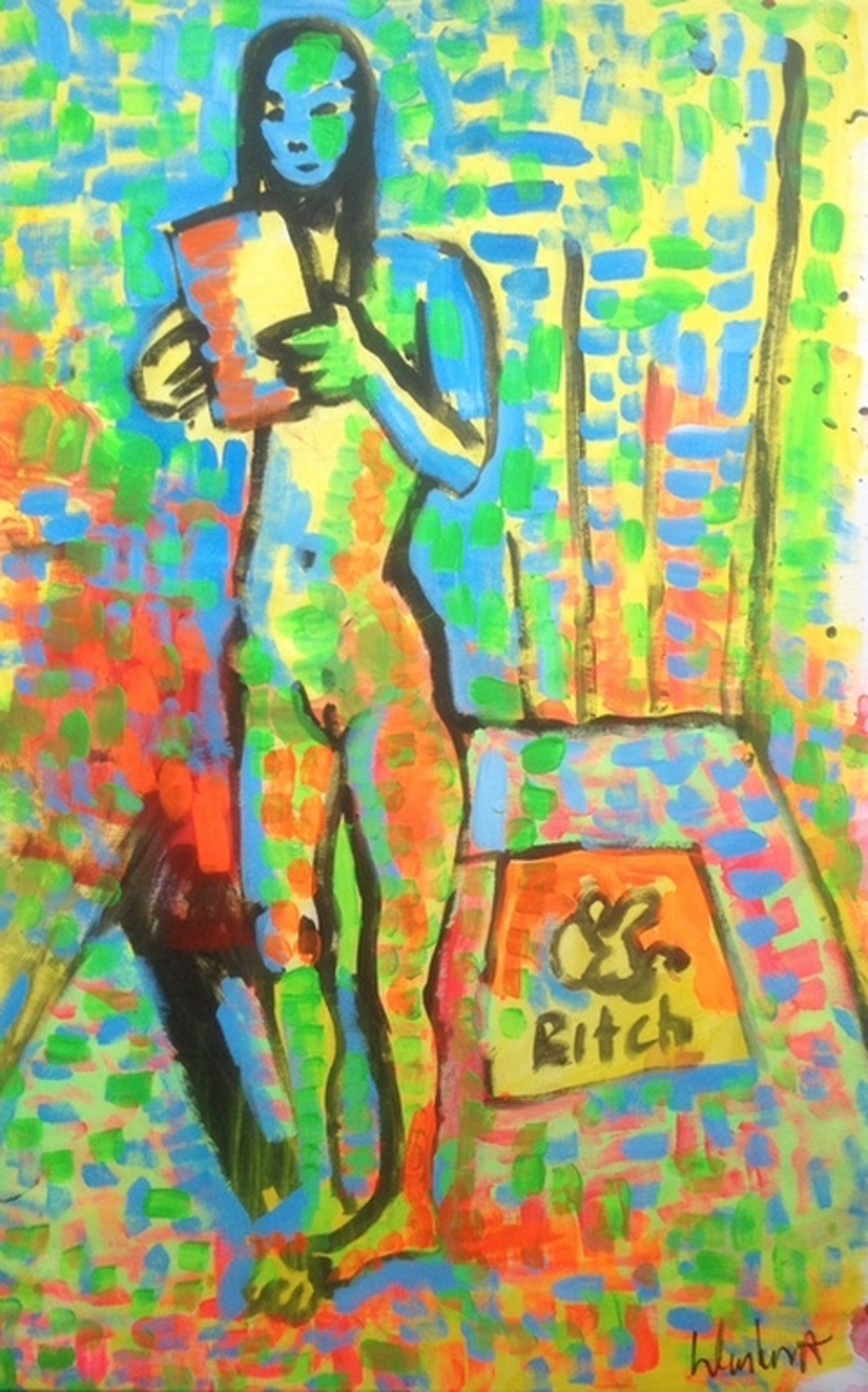 Peter Klashorst: Schilderij op doek, Vrouwelijk naakt kopen? Bied vanaf 140!