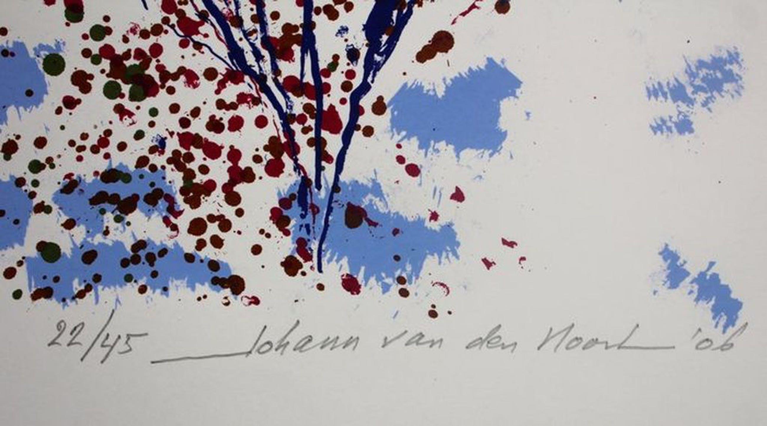 JOHAN van den NOORT  Gesigneerde Kleurenzeefdruk FLYING BIRD uit 2006 kopen? Bied vanaf 40!