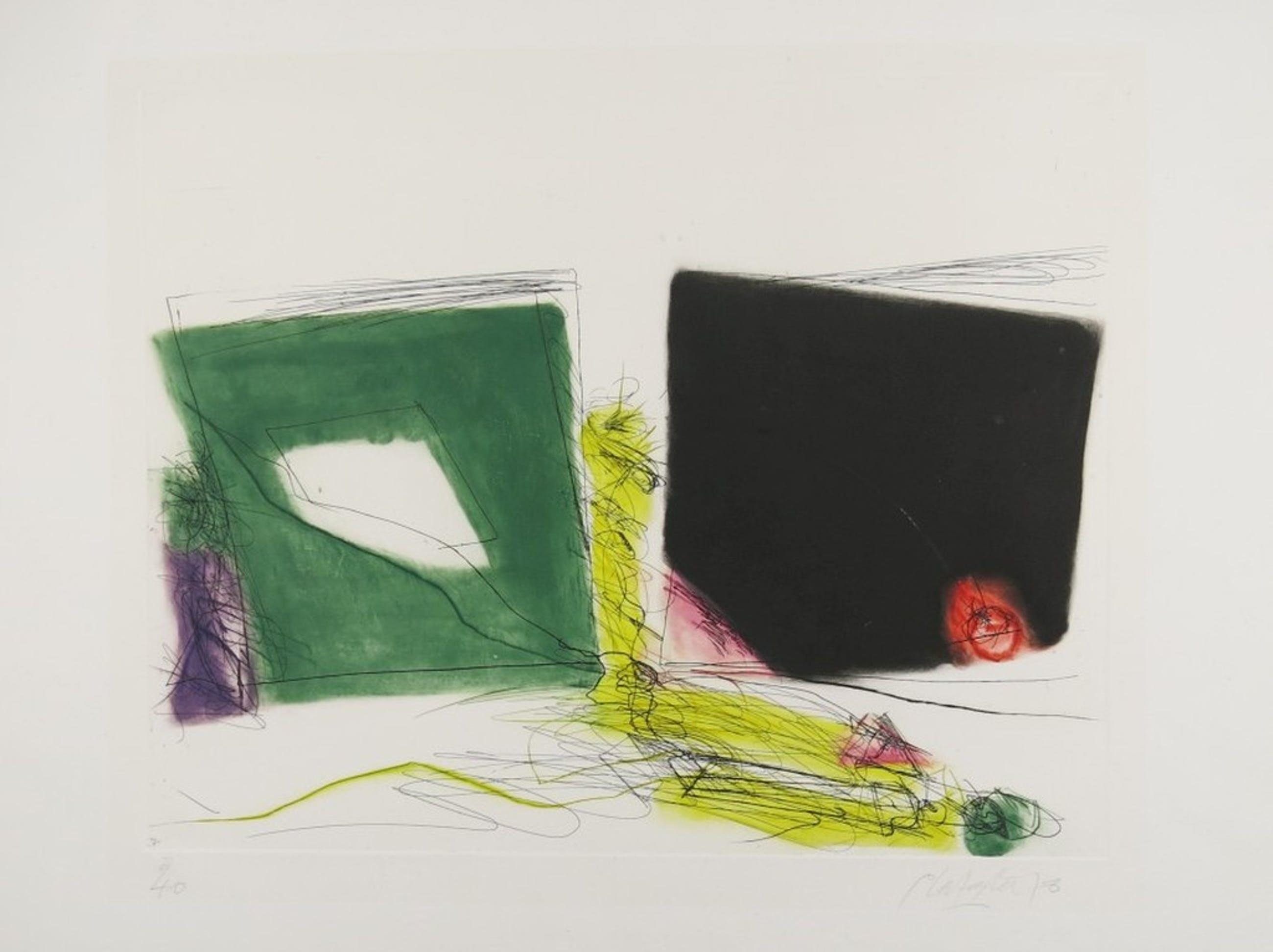 Ger Lataster: Kleurenets, Abstracte compositie kopen? Bied vanaf 100!