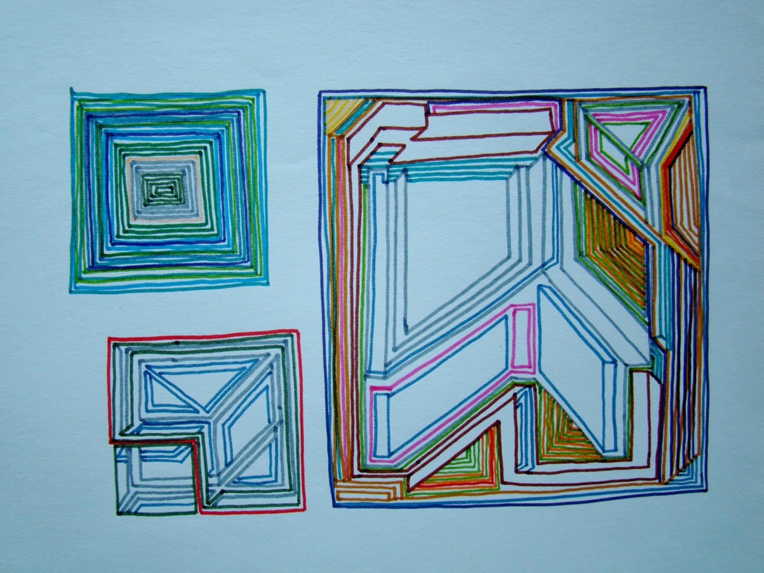 Ernst Vijlbrief (1934-2010) - twee schetsen jaren 60 kopen? Bied vanaf 1!