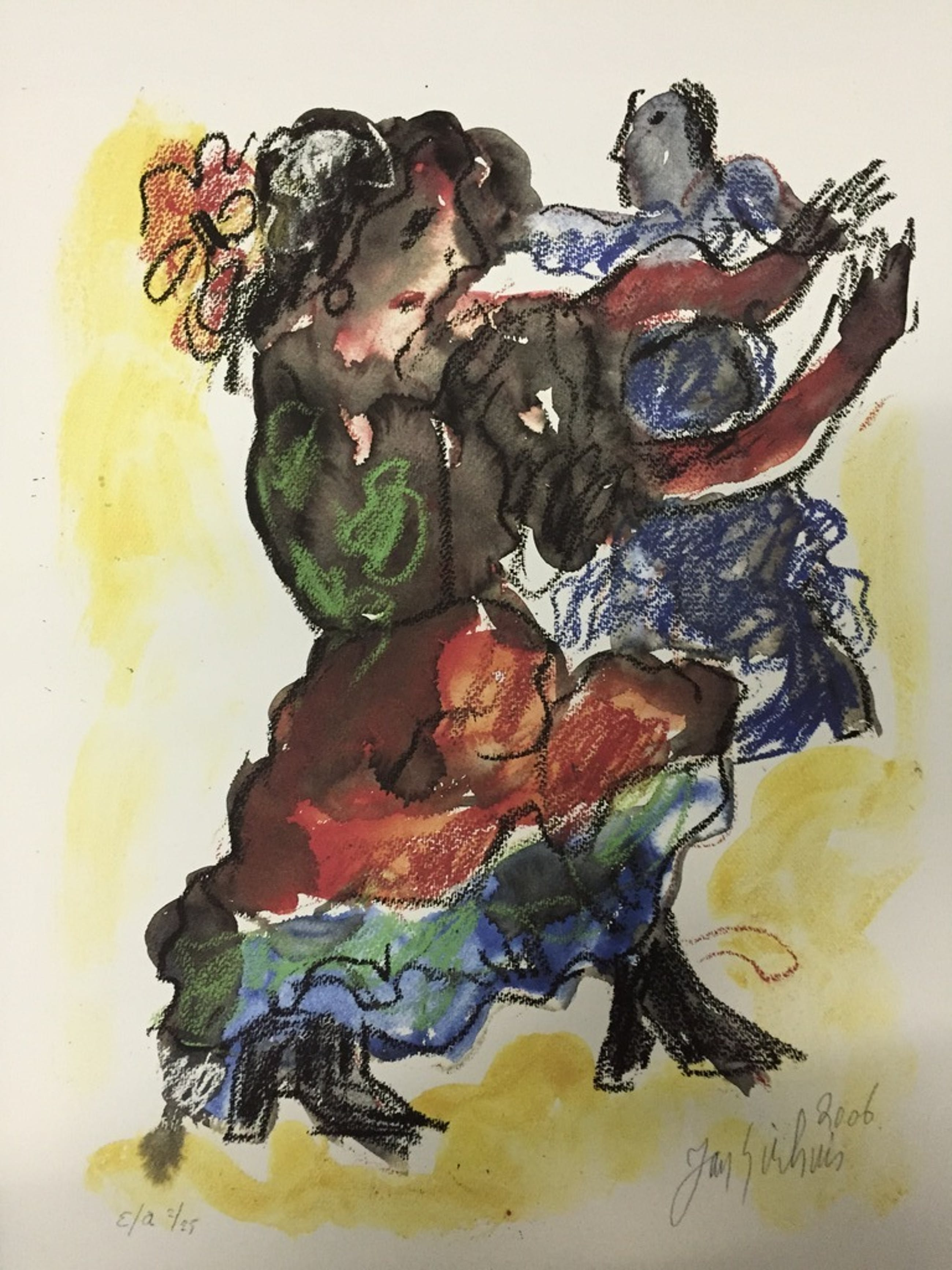 JAN SIERHUIS Originele E/A Piezo/ zeefdruk  Titel: De Dans 2006 kopen? Bied vanaf 1!
