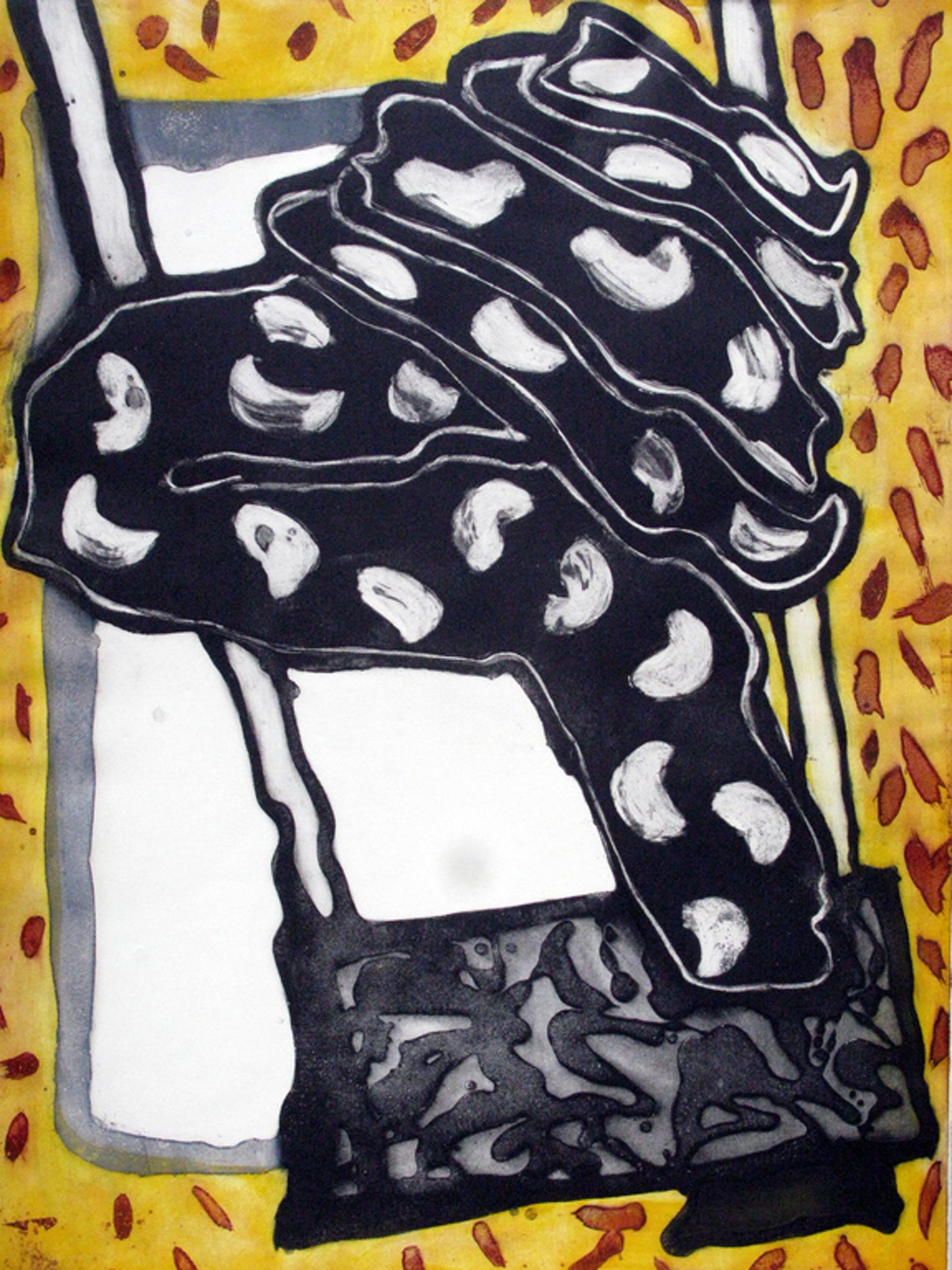 INGRID BOUWS - Grote abstracte ETS - GESIGNEERD 1984.  kopen? Bied vanaf 35!