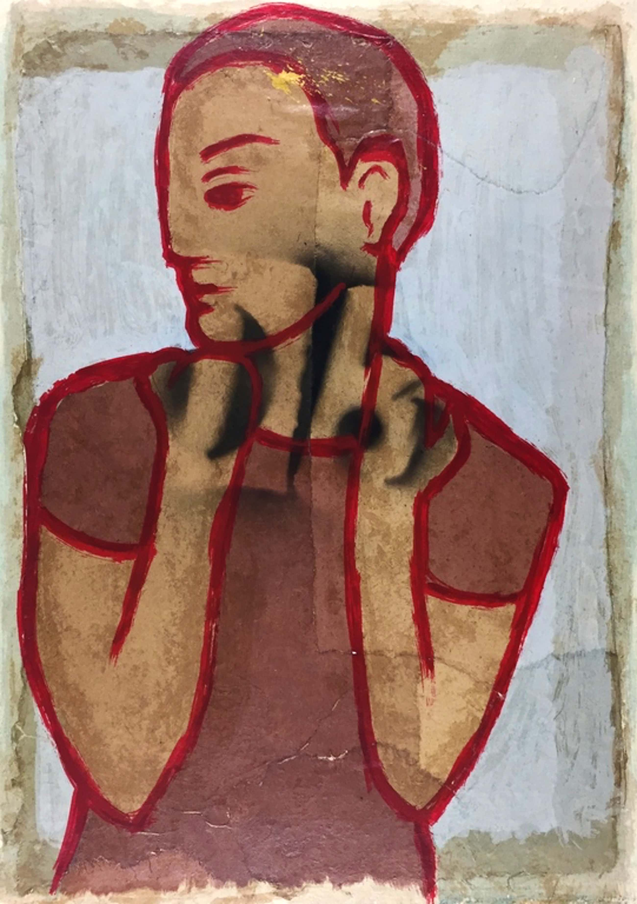 Casper Faassen, zeefdruk/collage, 2003 (INGELIJST) kopen? Bied vanaf 329!