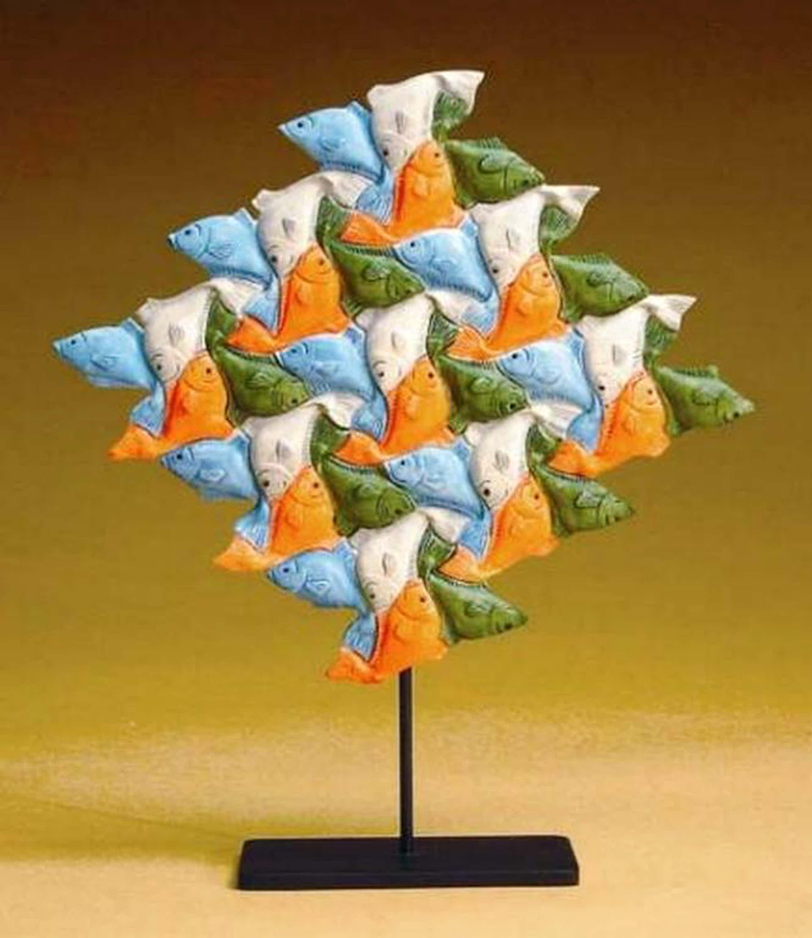 MC ESCHER, 3D-sculpture: Vissen kopen? Bied vanaf 44!