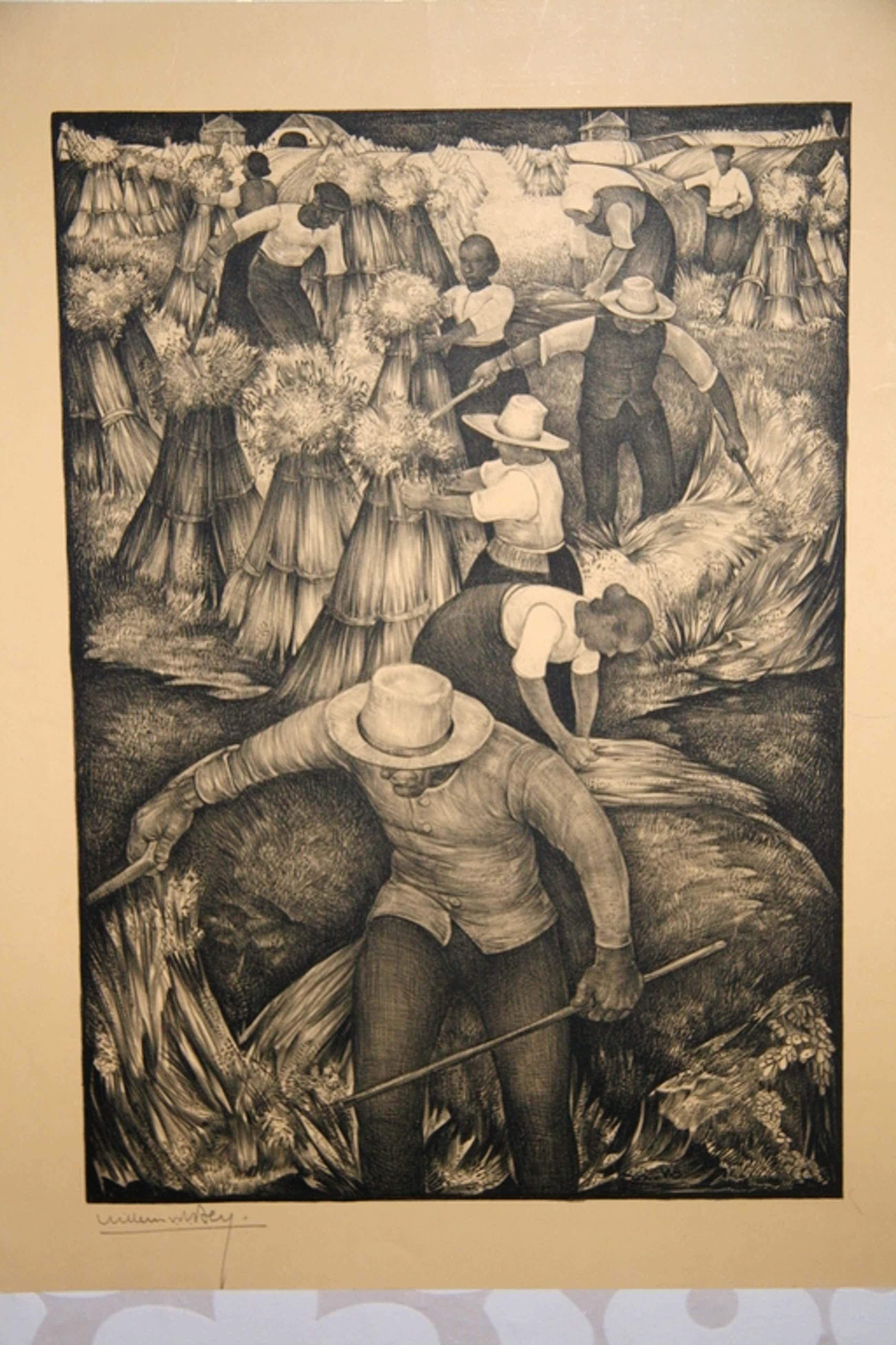 Willem van den Berg, Lithografie, De oogst kopen? Bied vanaf 45!