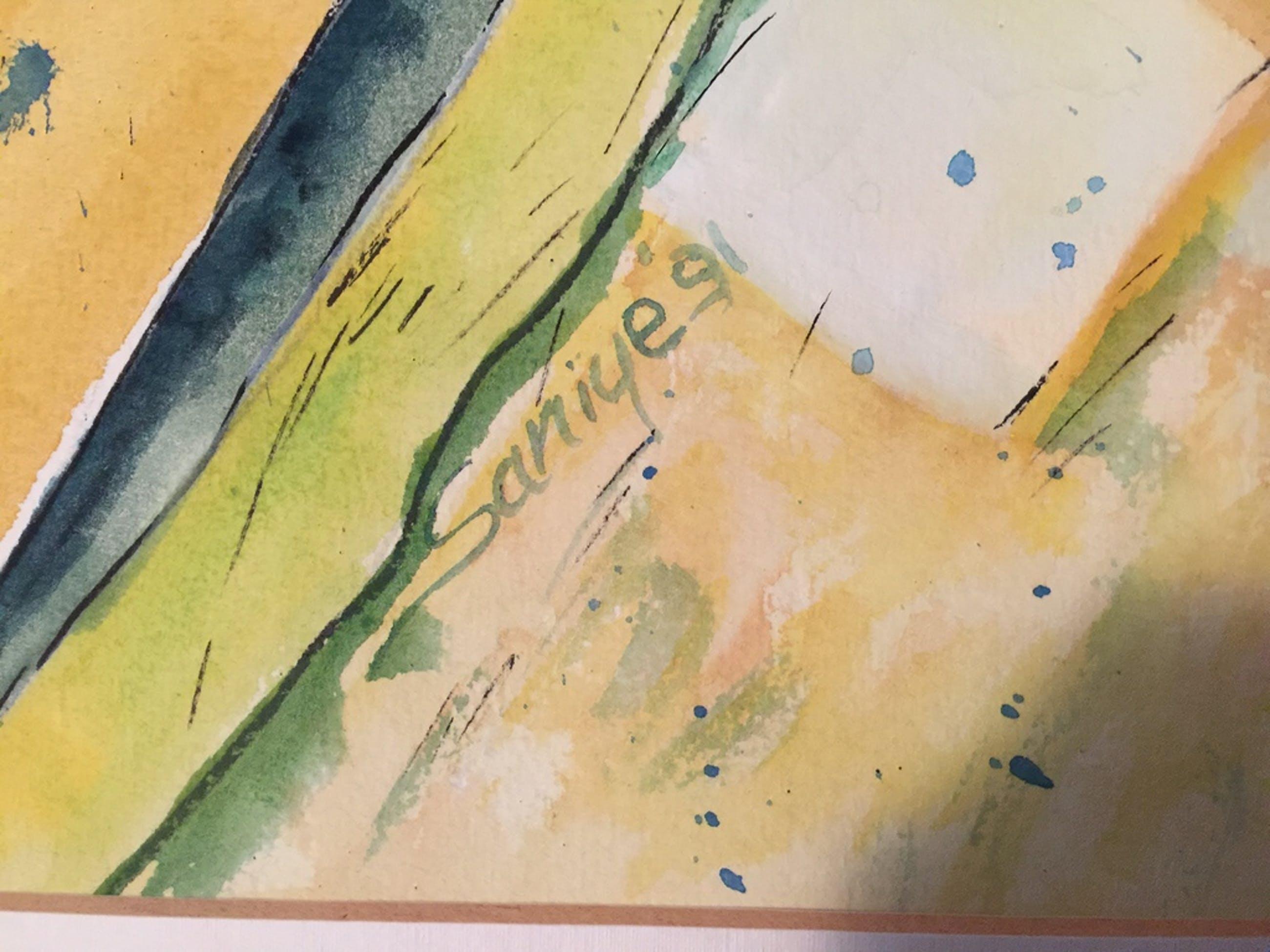 Saniye Bildircin, pastel, inkt, origineel, ZT kopen? Bied vanaf 1!