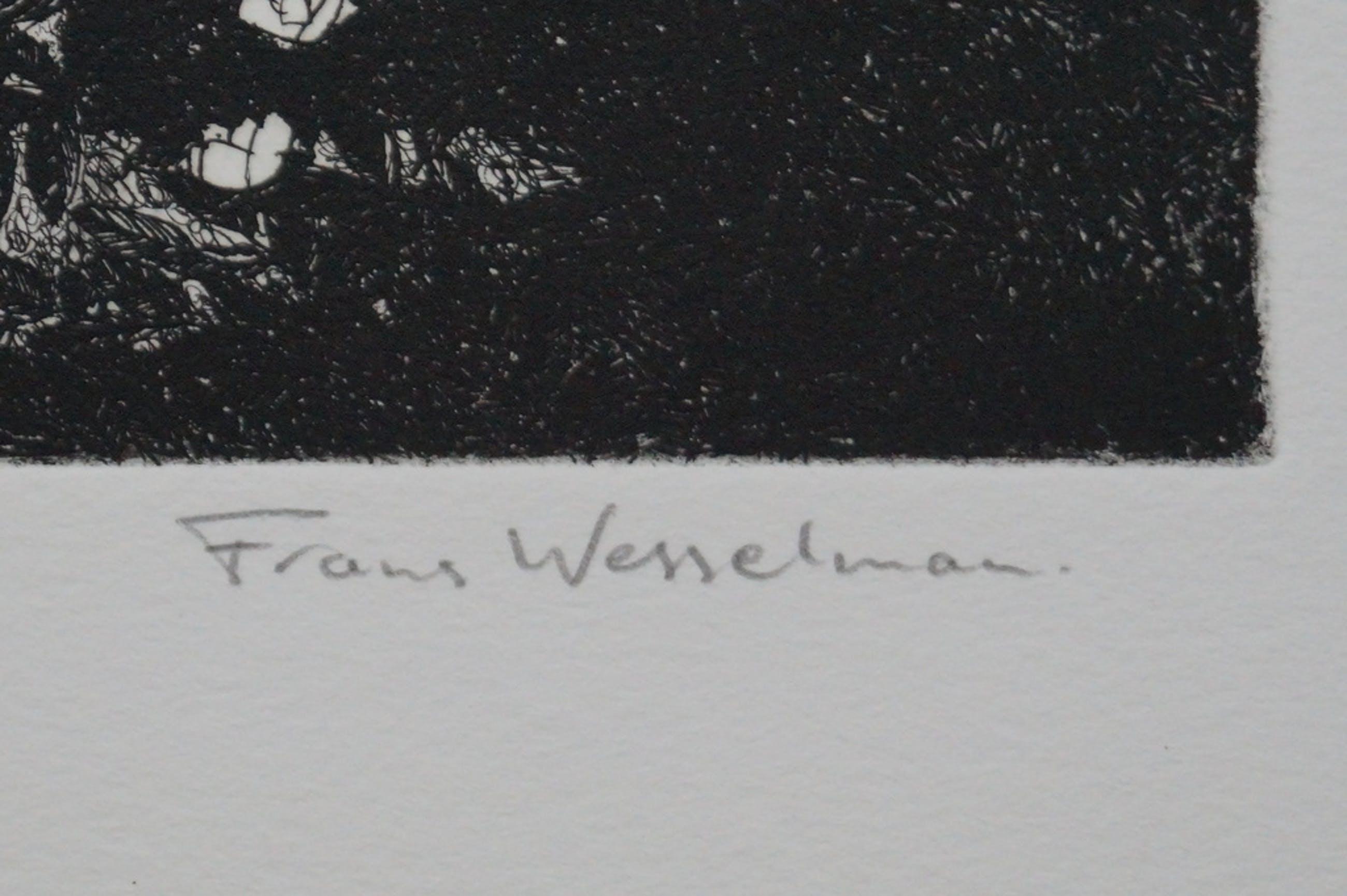 Frans Wesselman - gesigneerde ets - Othello in love kopen? Bied vanaf 10!