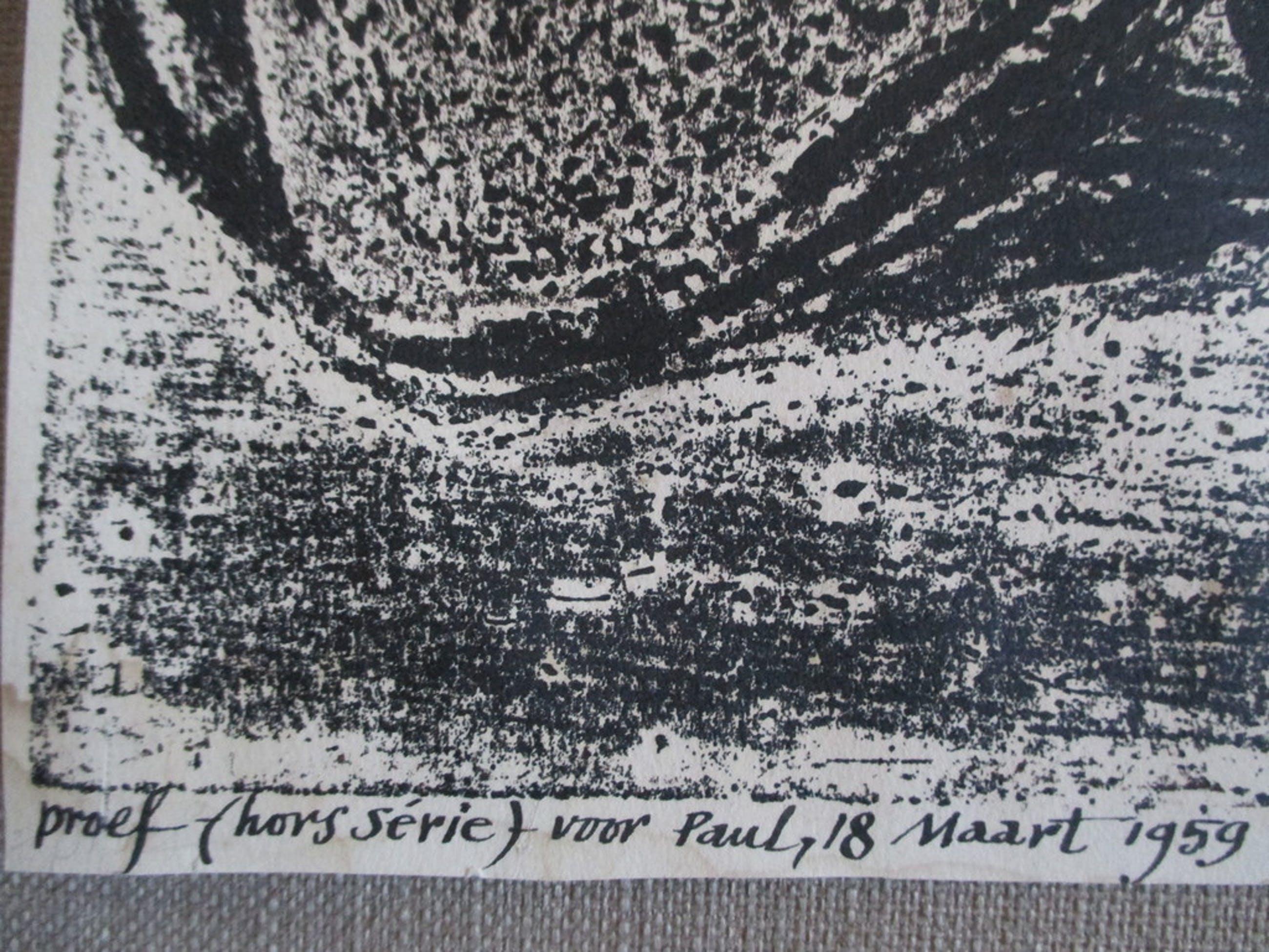W.J Rozendaal, litho portret Paul Huf 1959 kopen? Bied vanaf 40!
