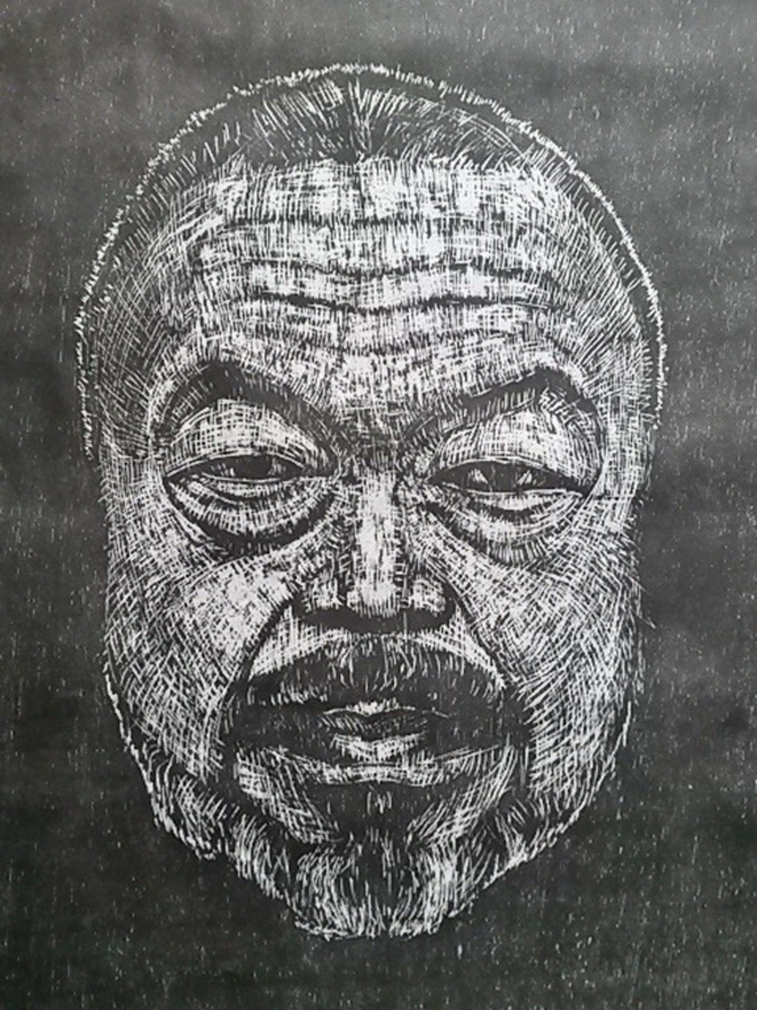 Zikel, portret Ai Wei Wei, houtsnede, 2016 kopen? Bied vanaf 195!