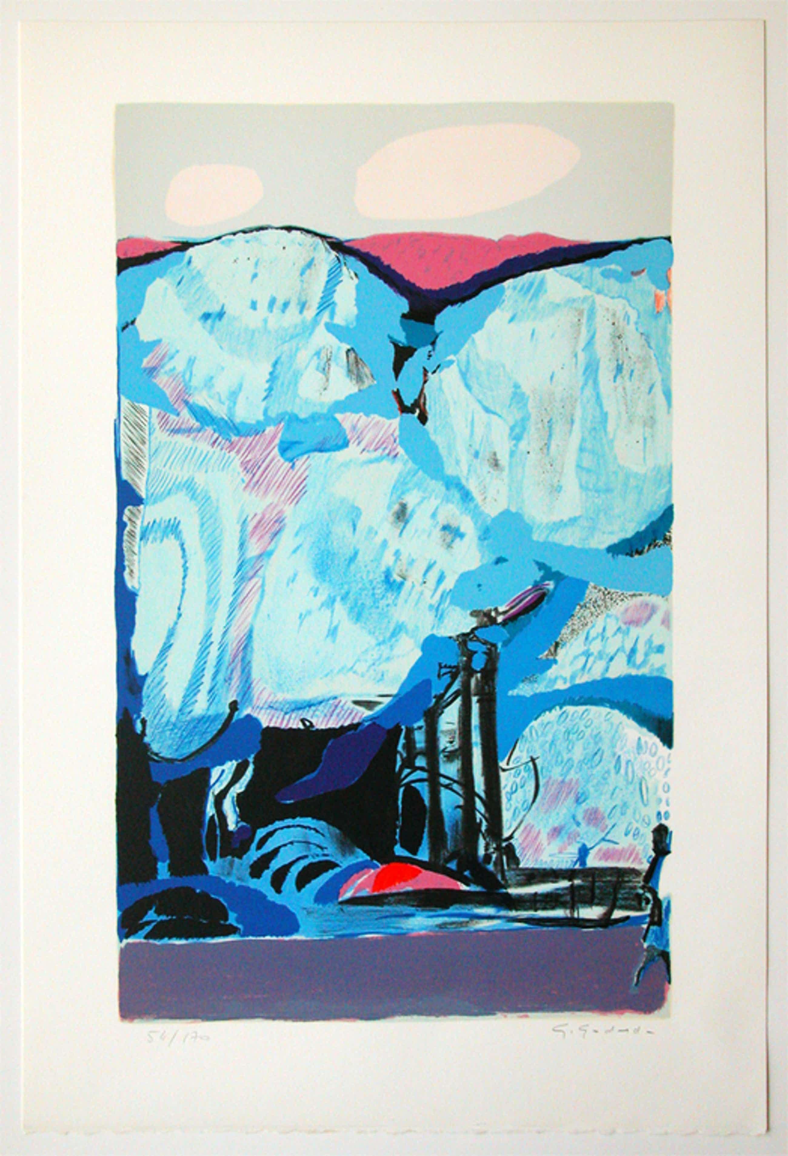 GABRIEL GODARD, originele litho 'L'oiree du bois' handgesign kopen? Bied vanaf 45!