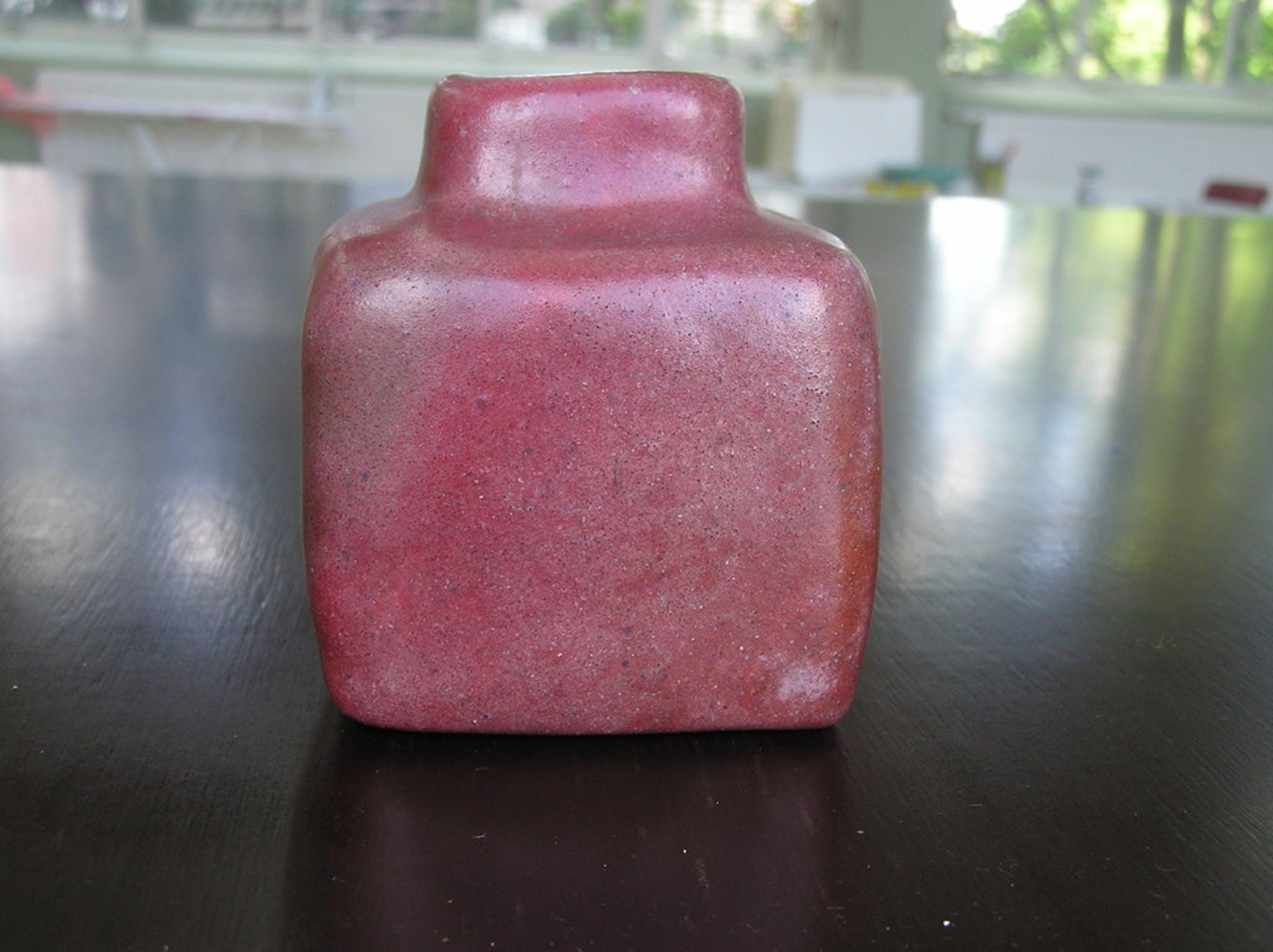 Rood aardewerken Ikebana vaas kopen? Bied vanaf 1!
