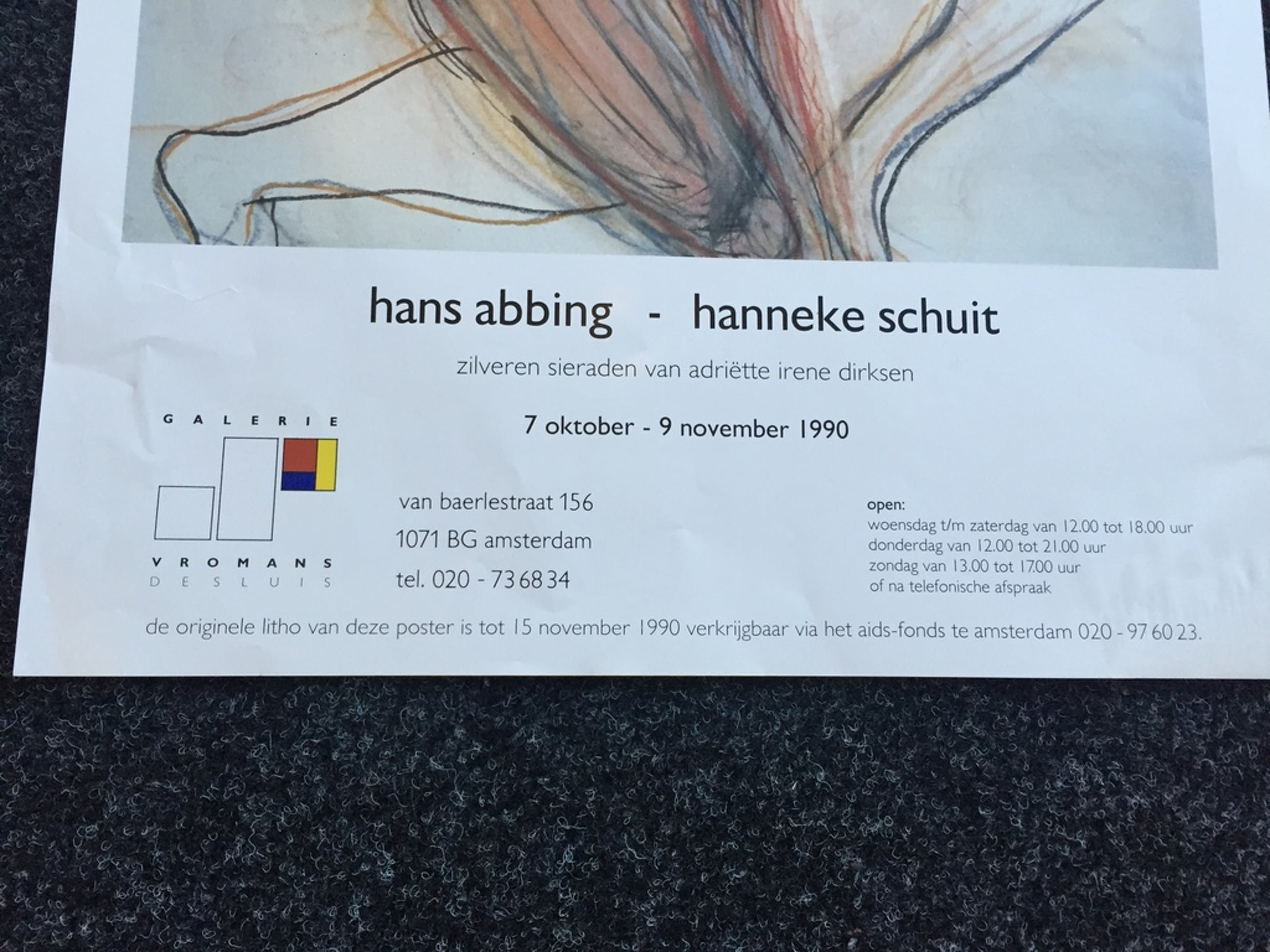 2 x Hans Abbing Zeefdruk/ Litho AIDS FONDS 1990 kopen? Bied vanaf 1!