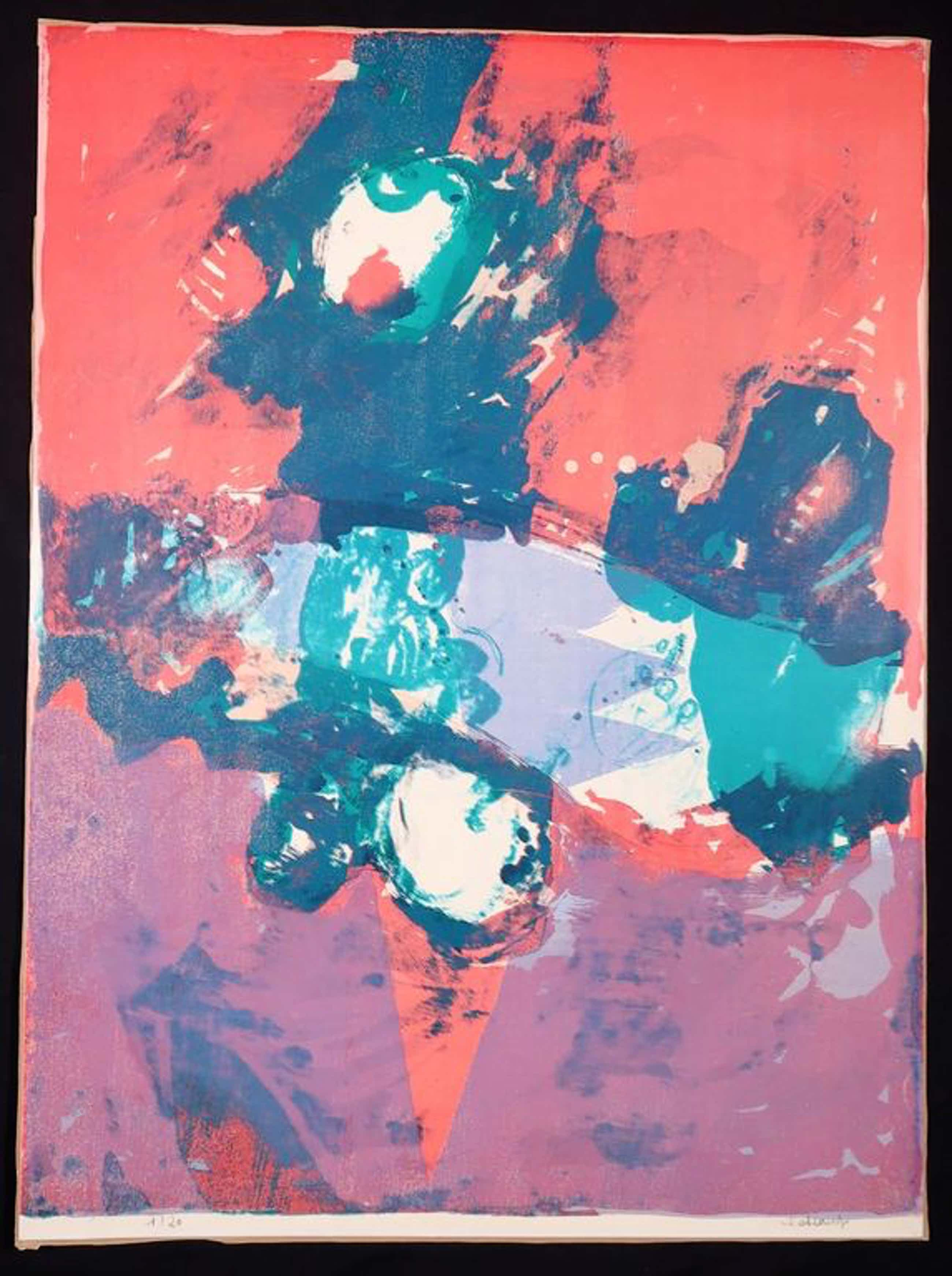 Jan Cobbaert: Litho, Abstract composition kopen? Bied vanaf 130!