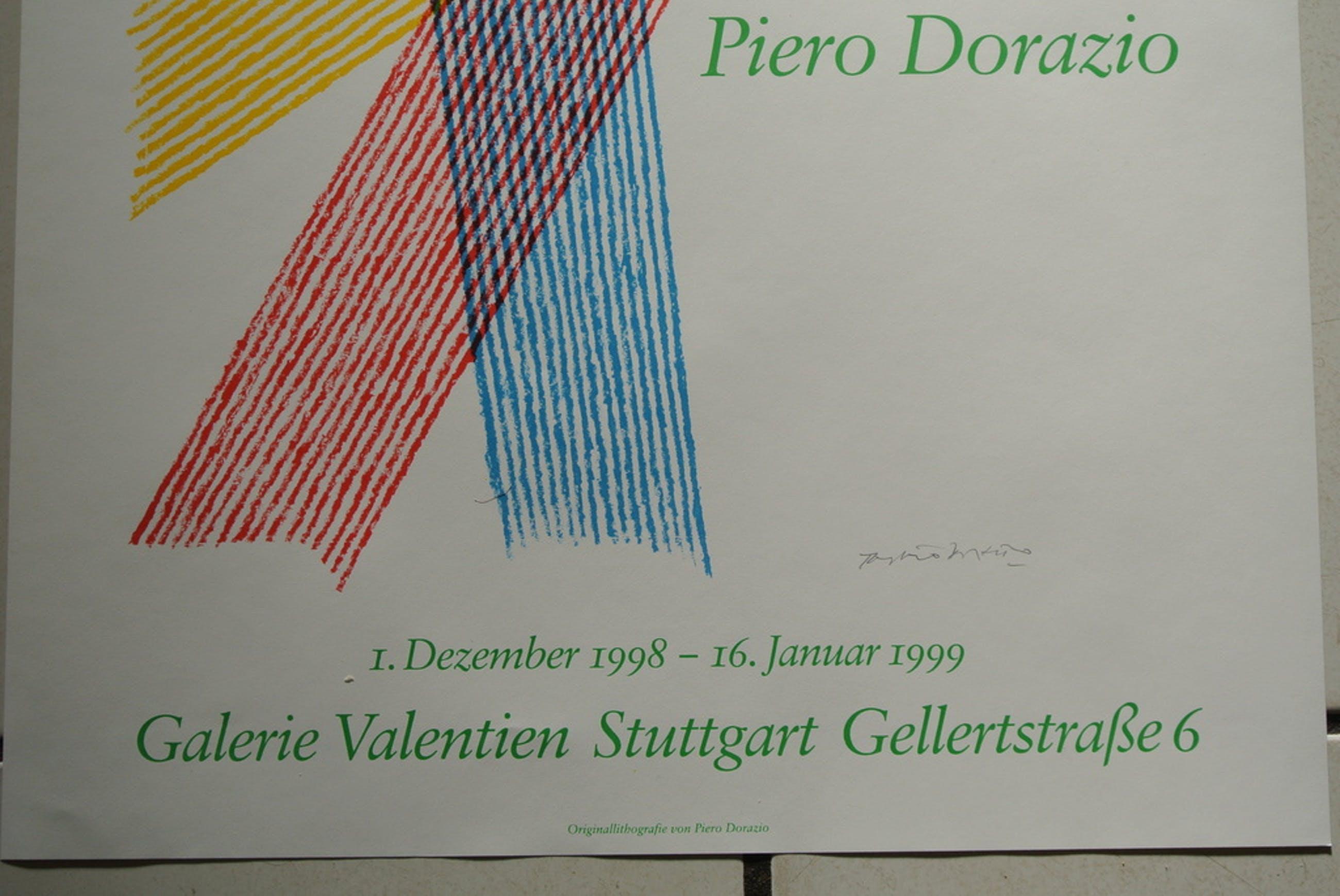 PIERO DORAZIO -Trigon- Handgesigneerd affiche. 1998. Beperkte oplage. kopen? Bied vanaf 85!