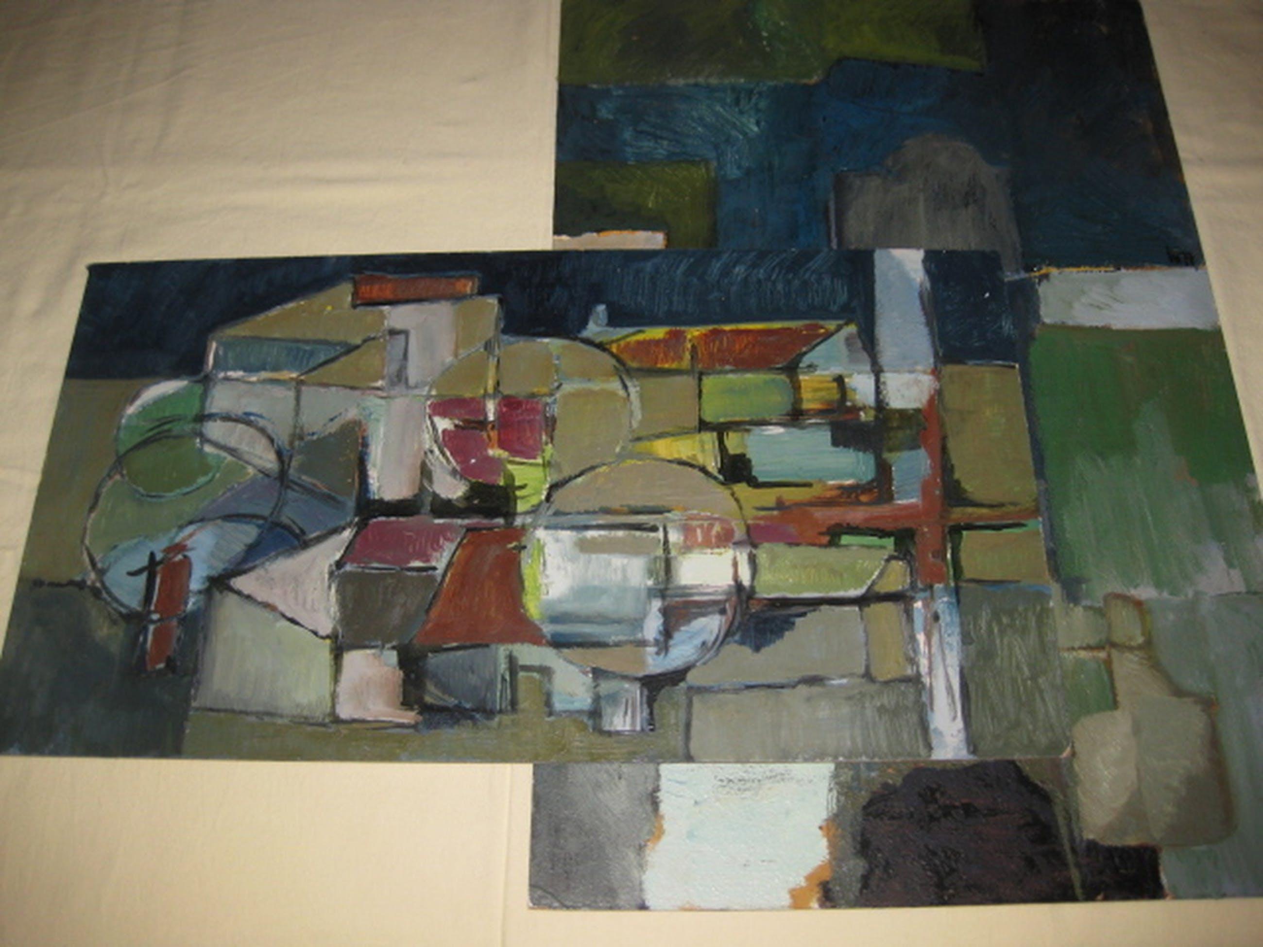 Twee keer schildersboard - stijl Nieuwe Haagse School - gesigneerd W77 kopen? Bied vanaf 1!