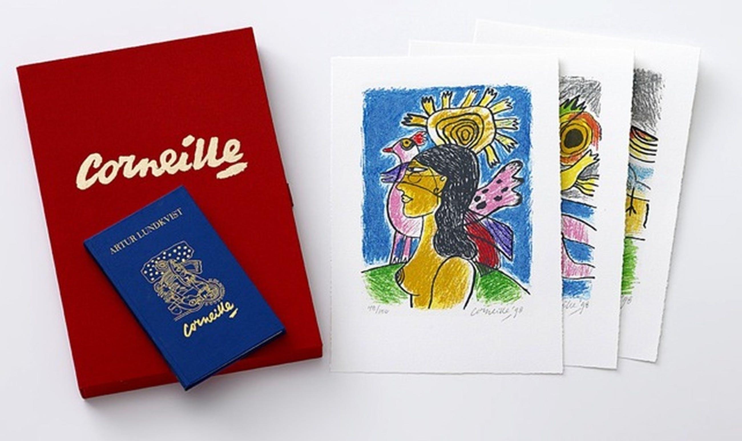 Corneille: Portfolio (luxe editie) met 3x Zeefdruk + boek, Femme et oiseaux II kopen? Bied vanaf 250!