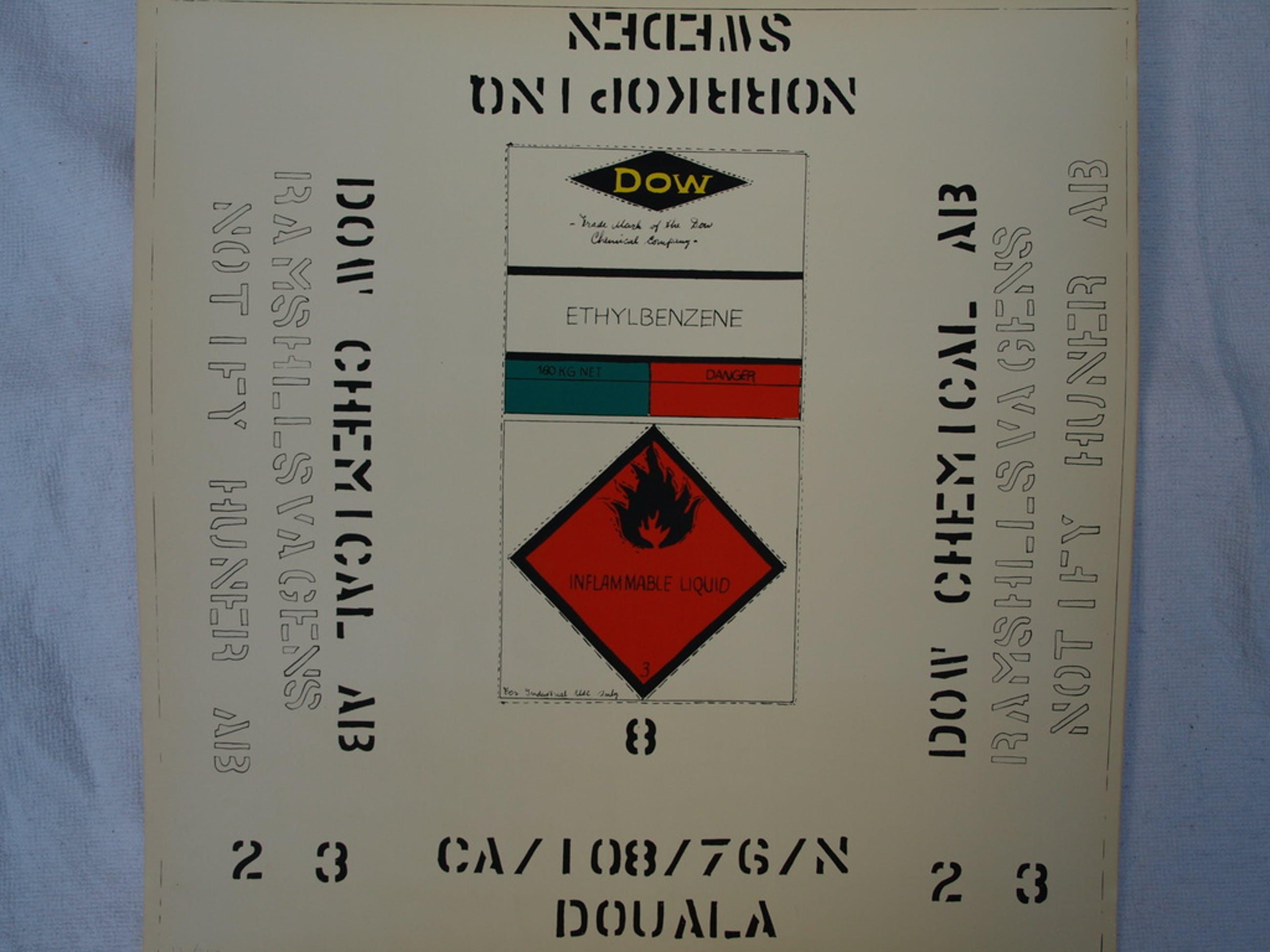Jan Bruens – Zeefdruk – Inflammable Liquid – oplage 200 – 1977 – 50 x 50 cm kopen? Bied vanaf 1!