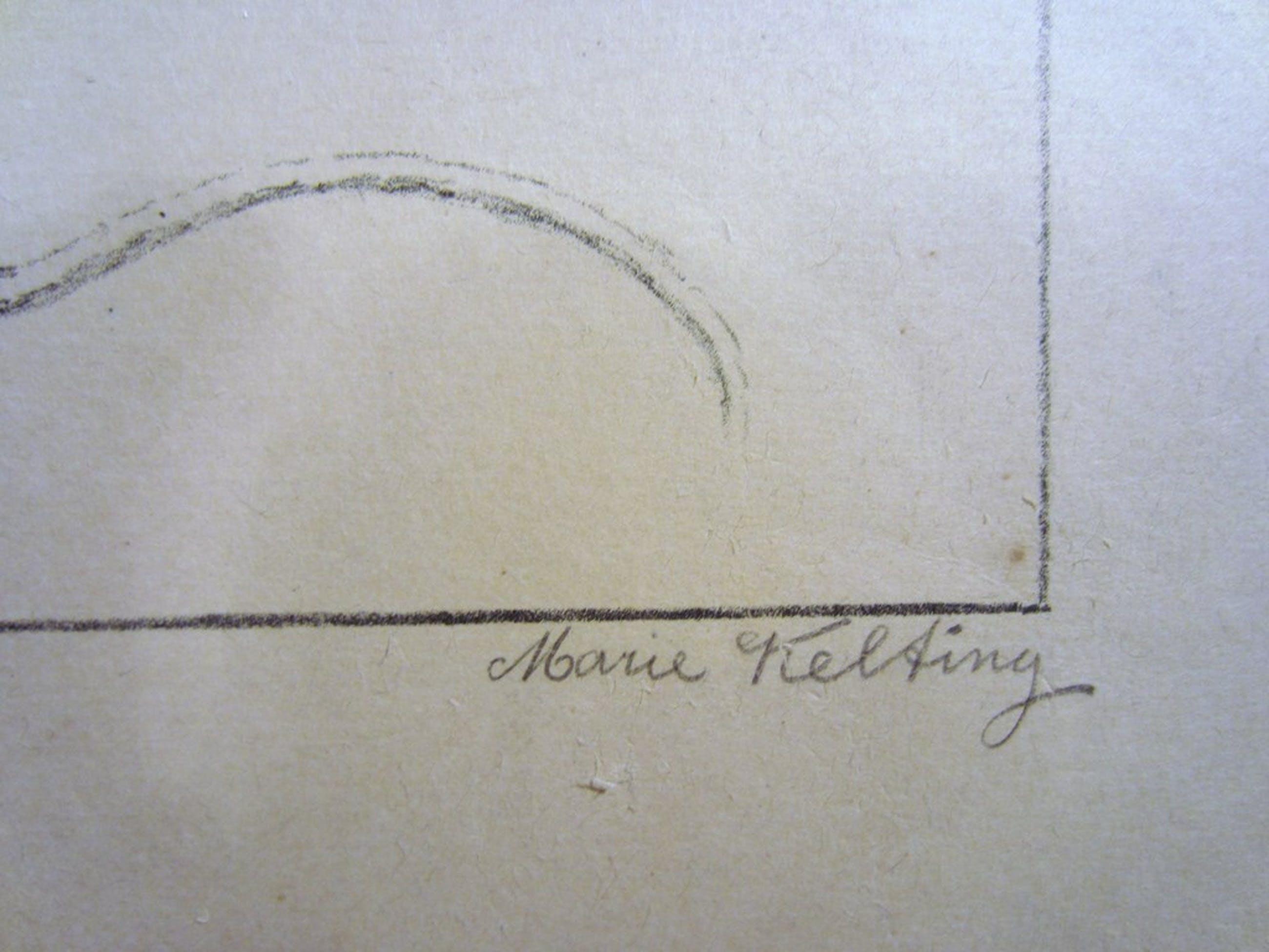 Marie Kelting (1886-1969) - Litho Muisjes kopen? Bied vanaf 1!