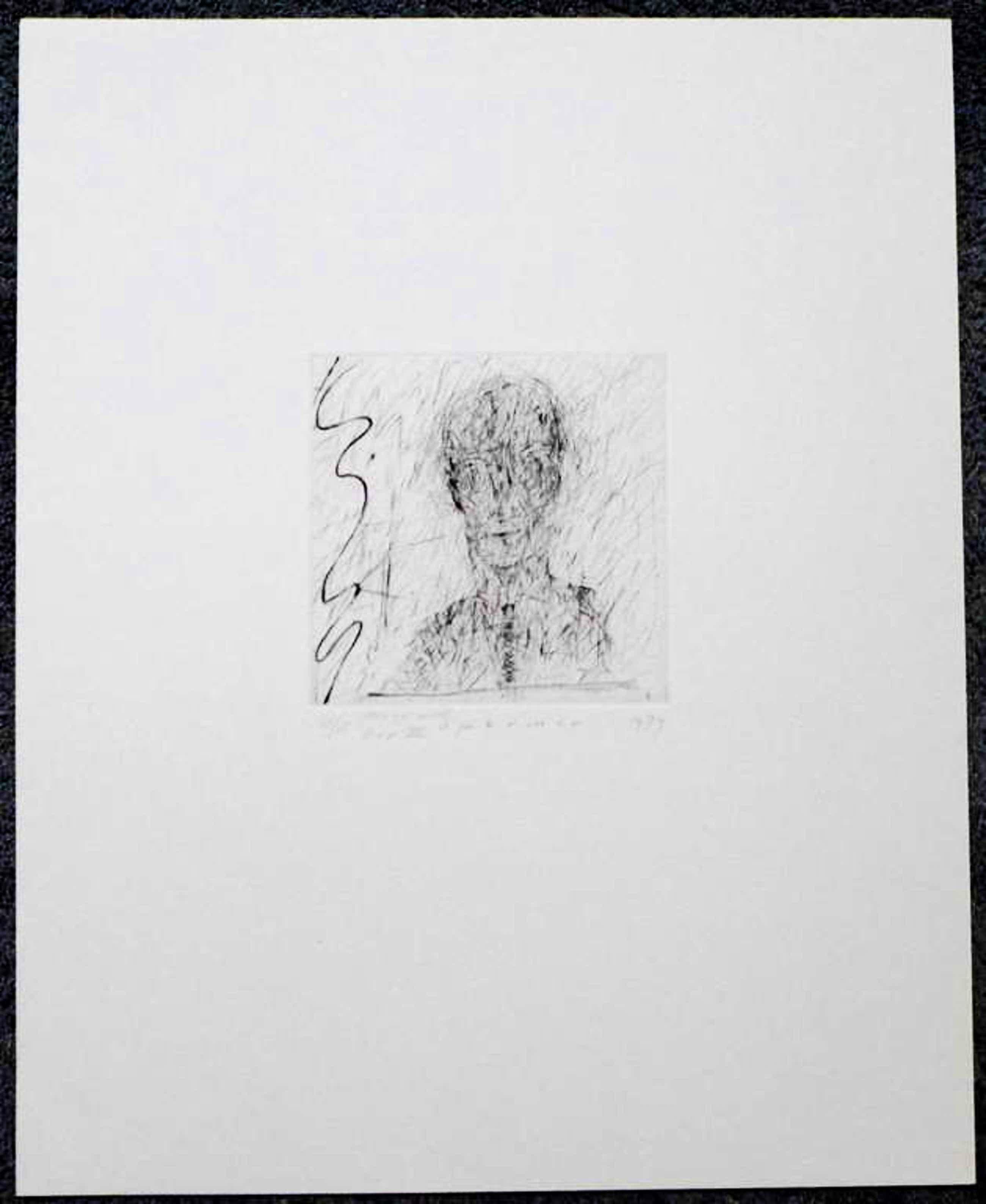 Kees Spermon - Kees Spermon, droge naald uit 1979 oplage 4/15 beeldformaat 14.5 x 14.7 cm. kopen? Bied vanaf 55!