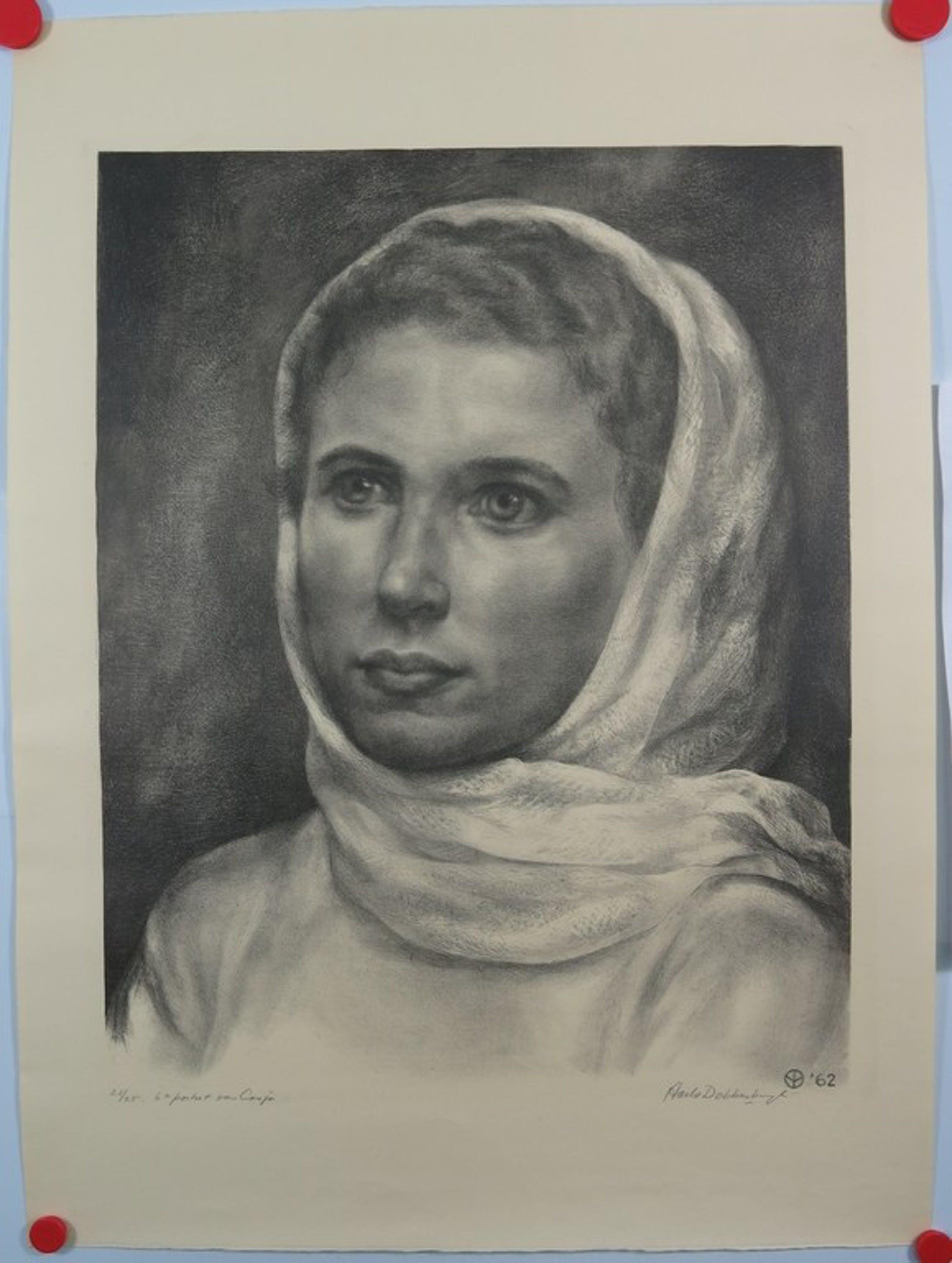 Aart van Dobbenburg: Lithografie, 6e Portret van Cosja.  kopen? Bied vanaf 50!