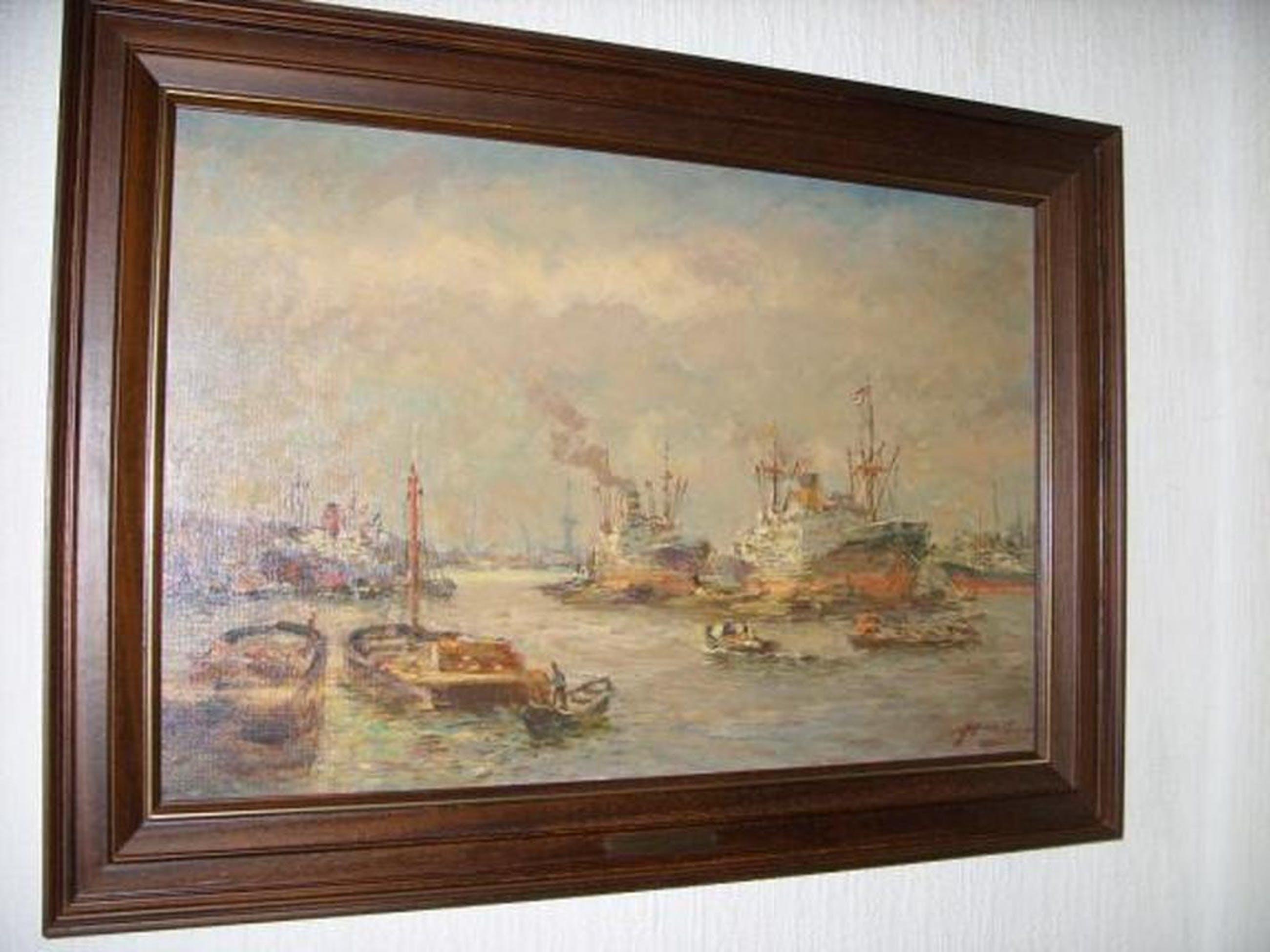 Joop Molenaar - Havengezicht Rotterdam  kopen? Bied vanaf 490!