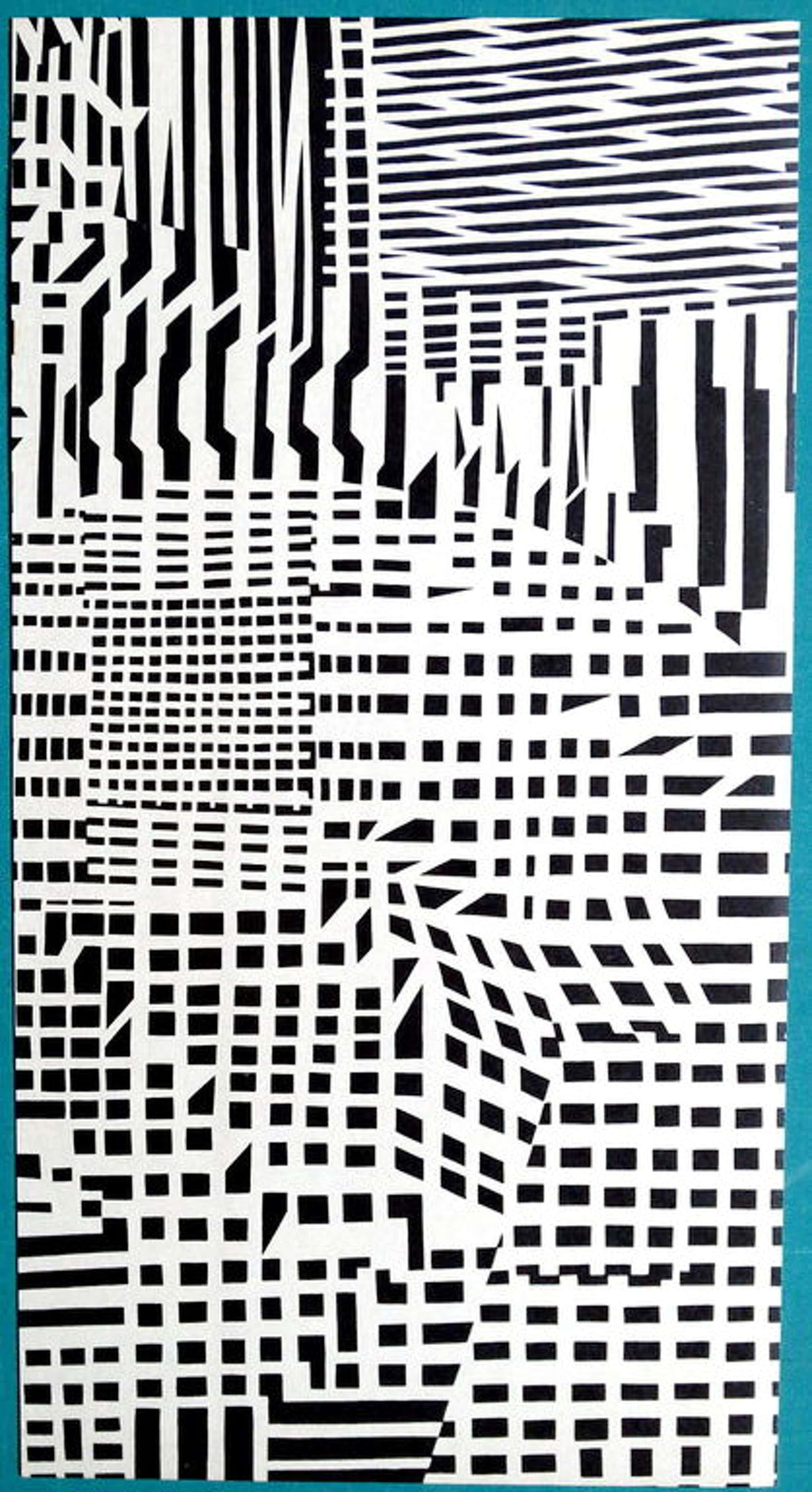 Victor Vasarely, zwart-wit lithografie, 1973 kopen? Bied vanaf 55!