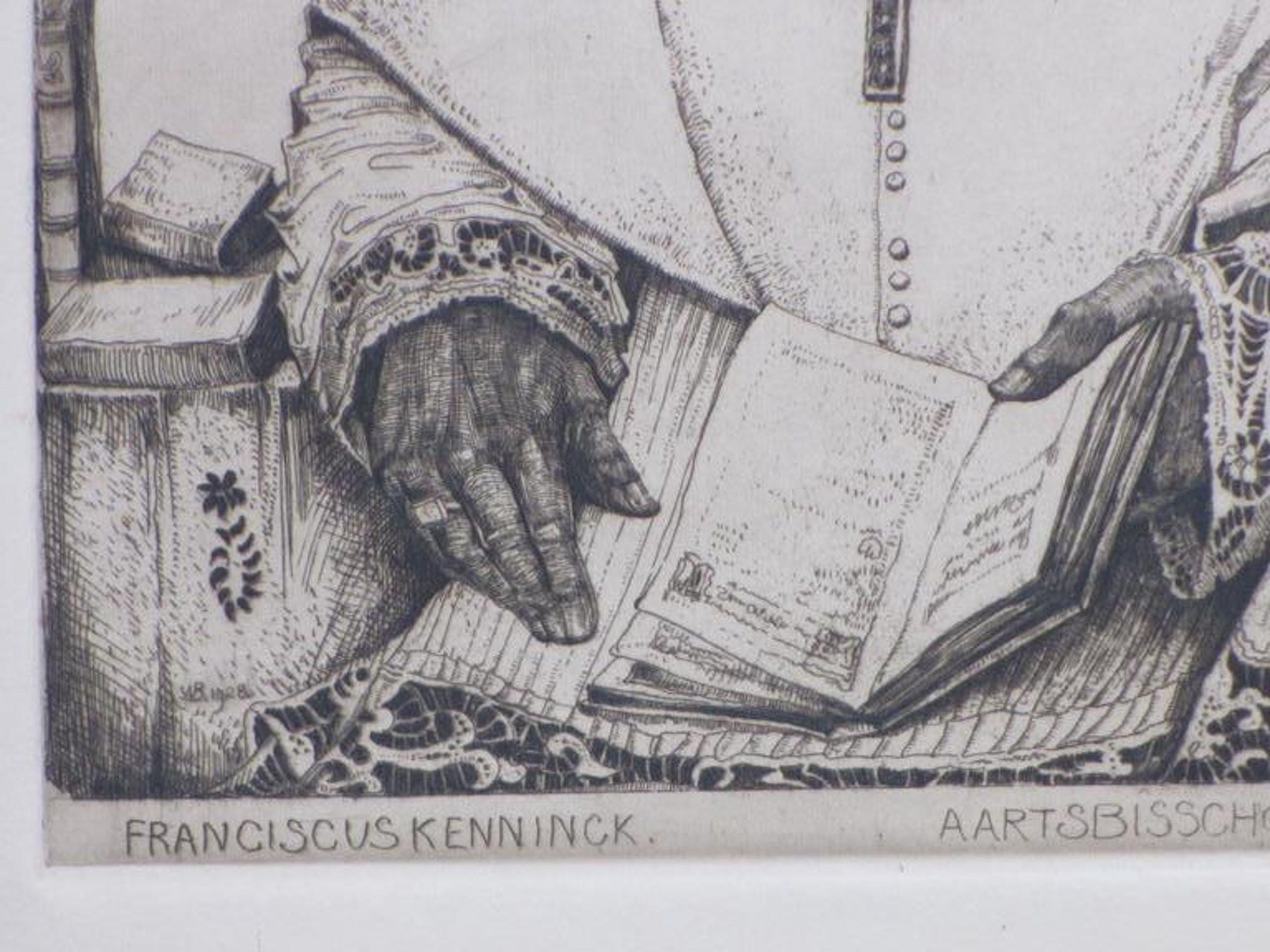 Willem van den Berg, Bisschop Franciscus Kenninck, Ets 1928 kopen? Bied vanaf 25!