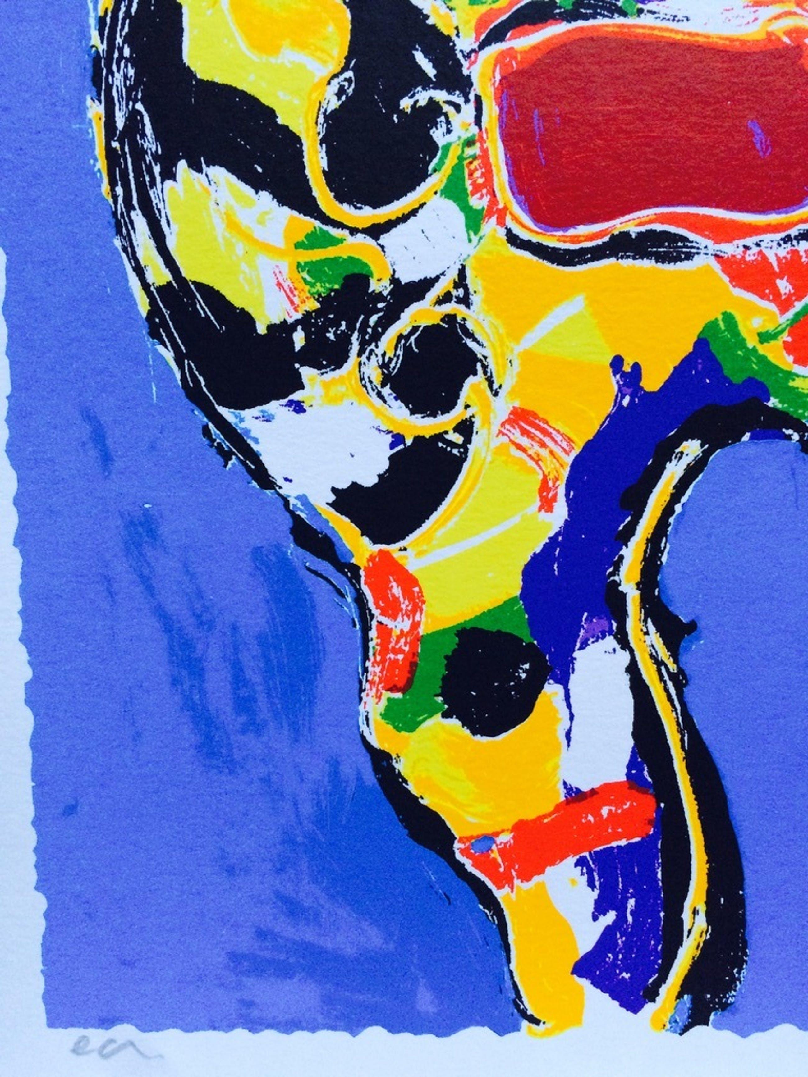 Peter Diem: zeefdruk, blue Cow  kopen? Bied vanaf 19!
