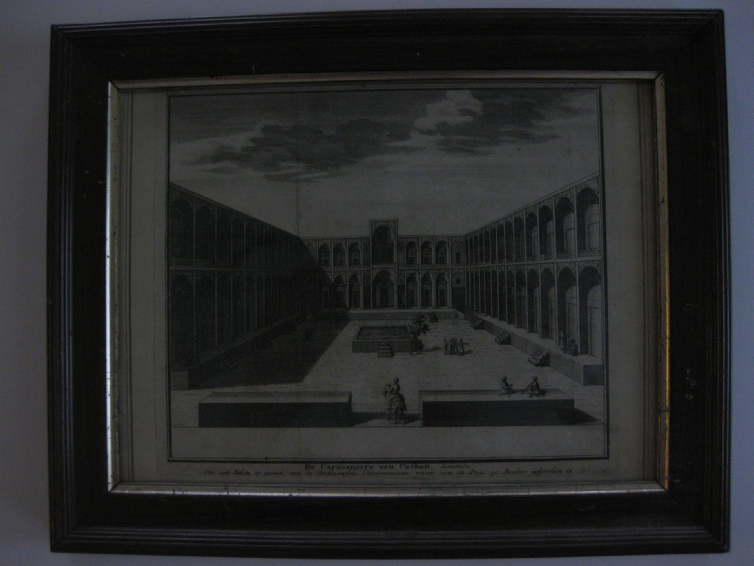 Kopergravure de Caravansera van Cachan - vervaardigd door Giuseppe Filosi 1762 - Uitgegeven door Albrizzi kopen? Bied vanaf 1!