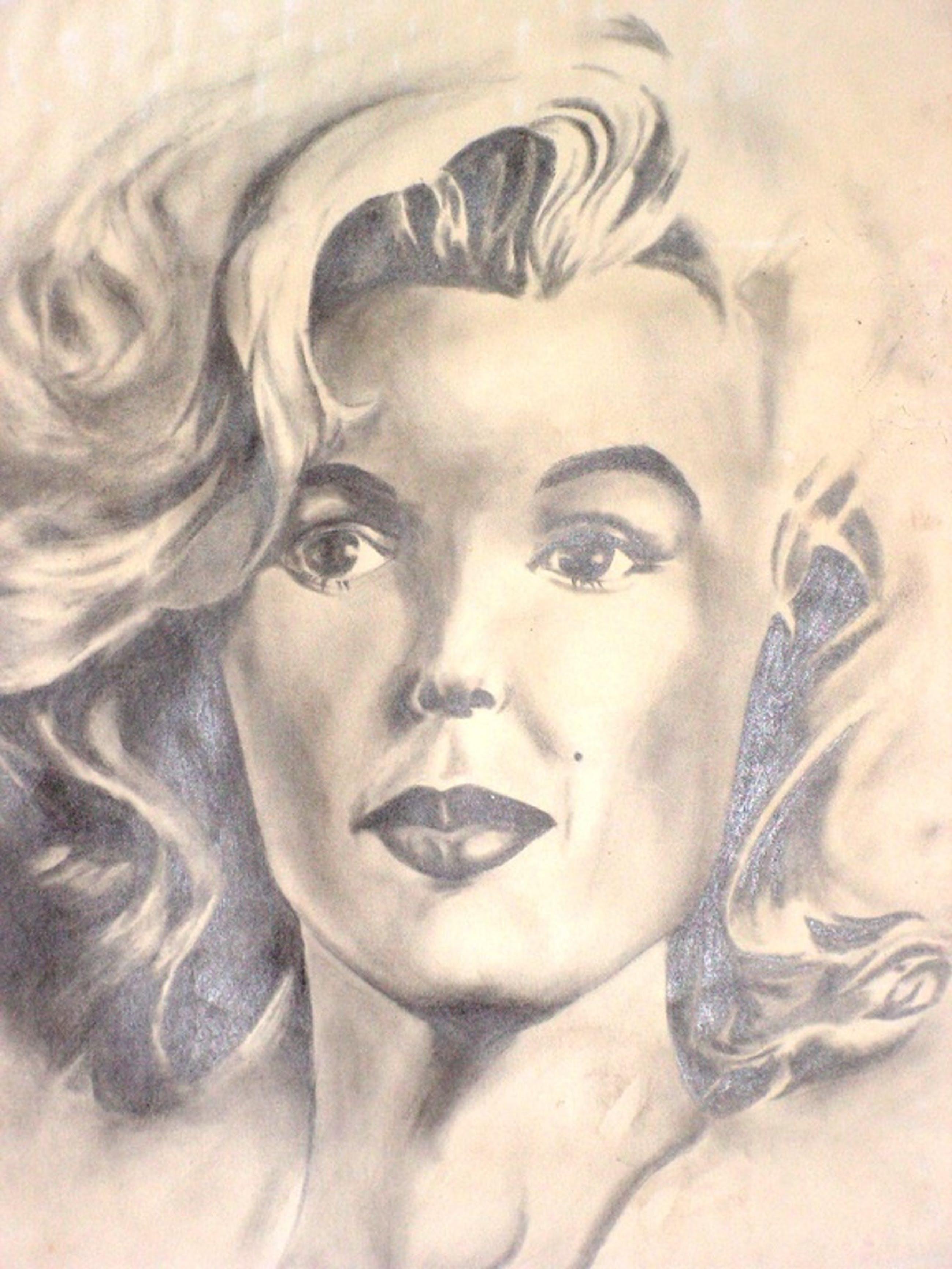 Portret van een vrouw:  potlood. kopen? Bied vanaf 1!