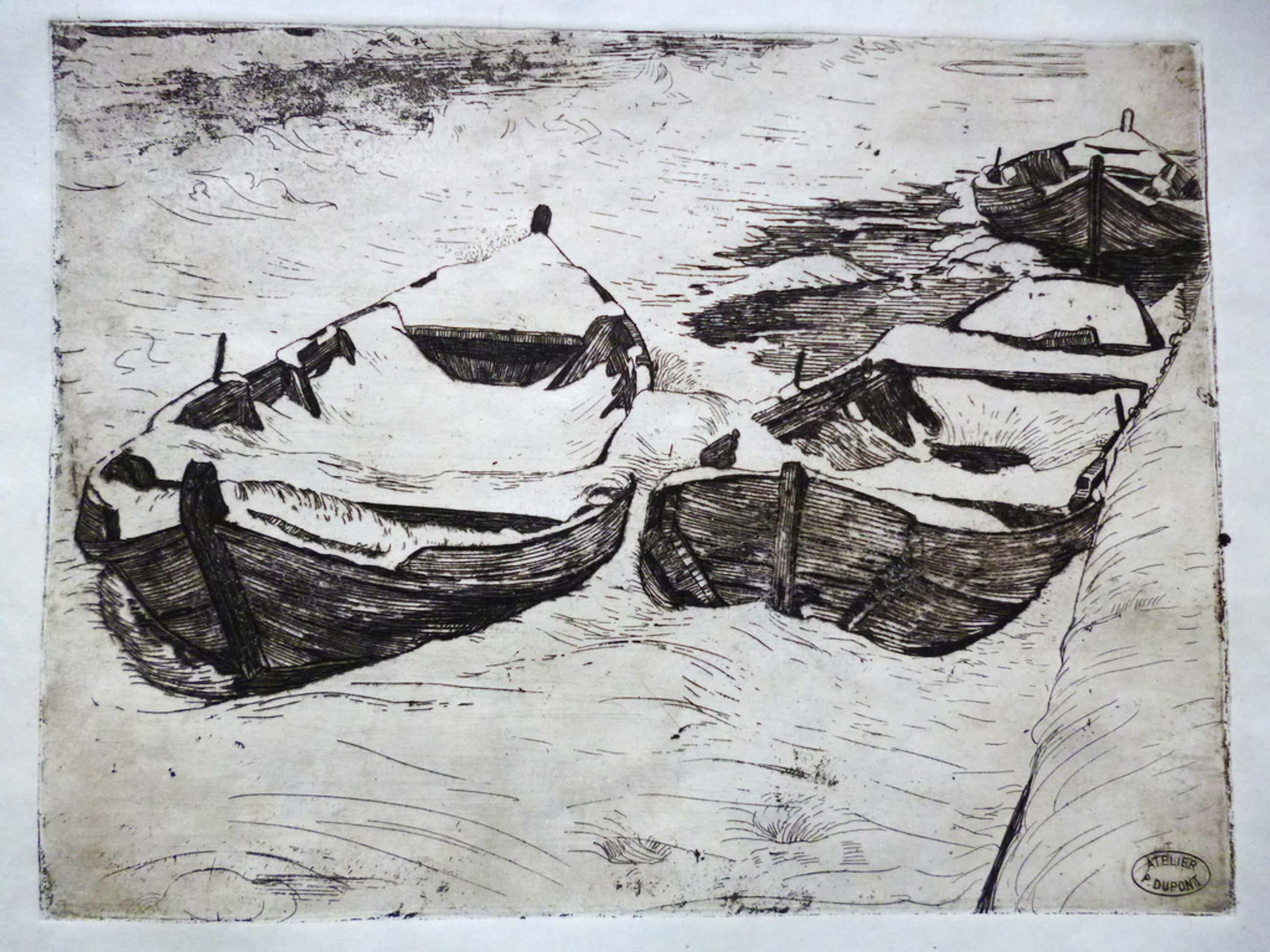 Pieter Dupont - ets - Booten in den winter kopen? Bied vanaf 80!