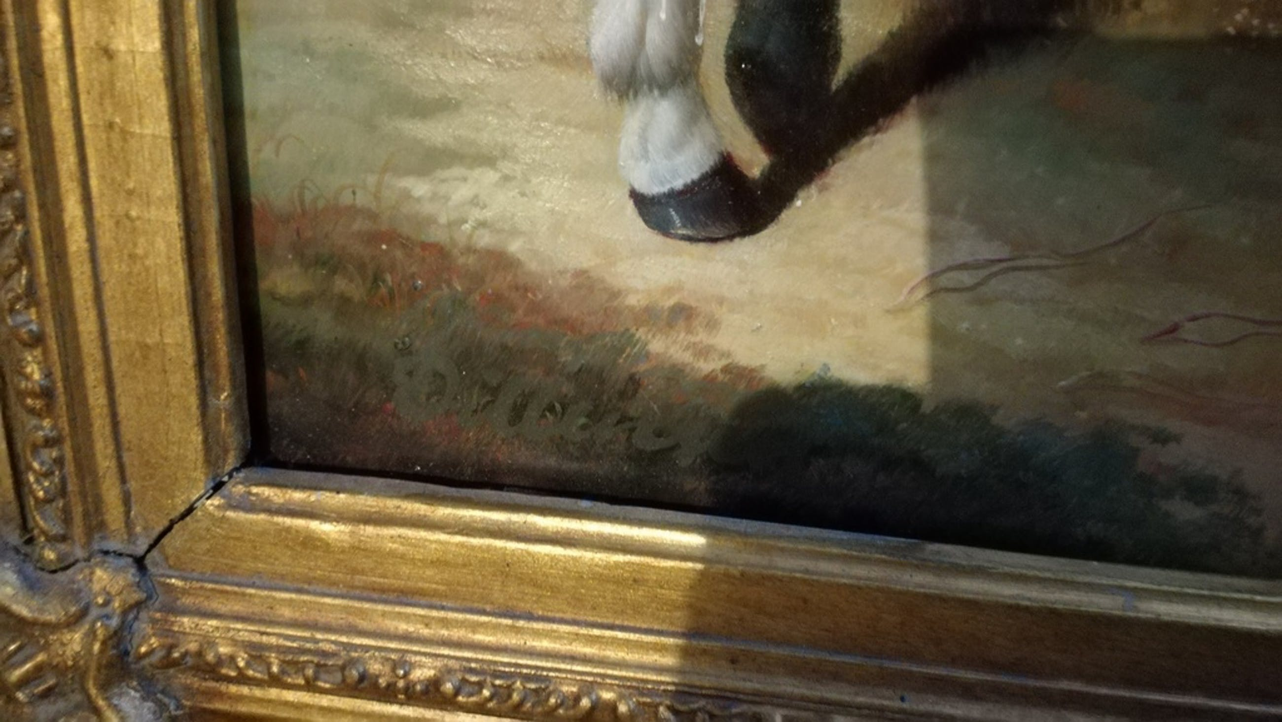 Onbekend kunstenaar, Olieverf op paneel, Paardenschilderij kopen? Bied vanaf 1!