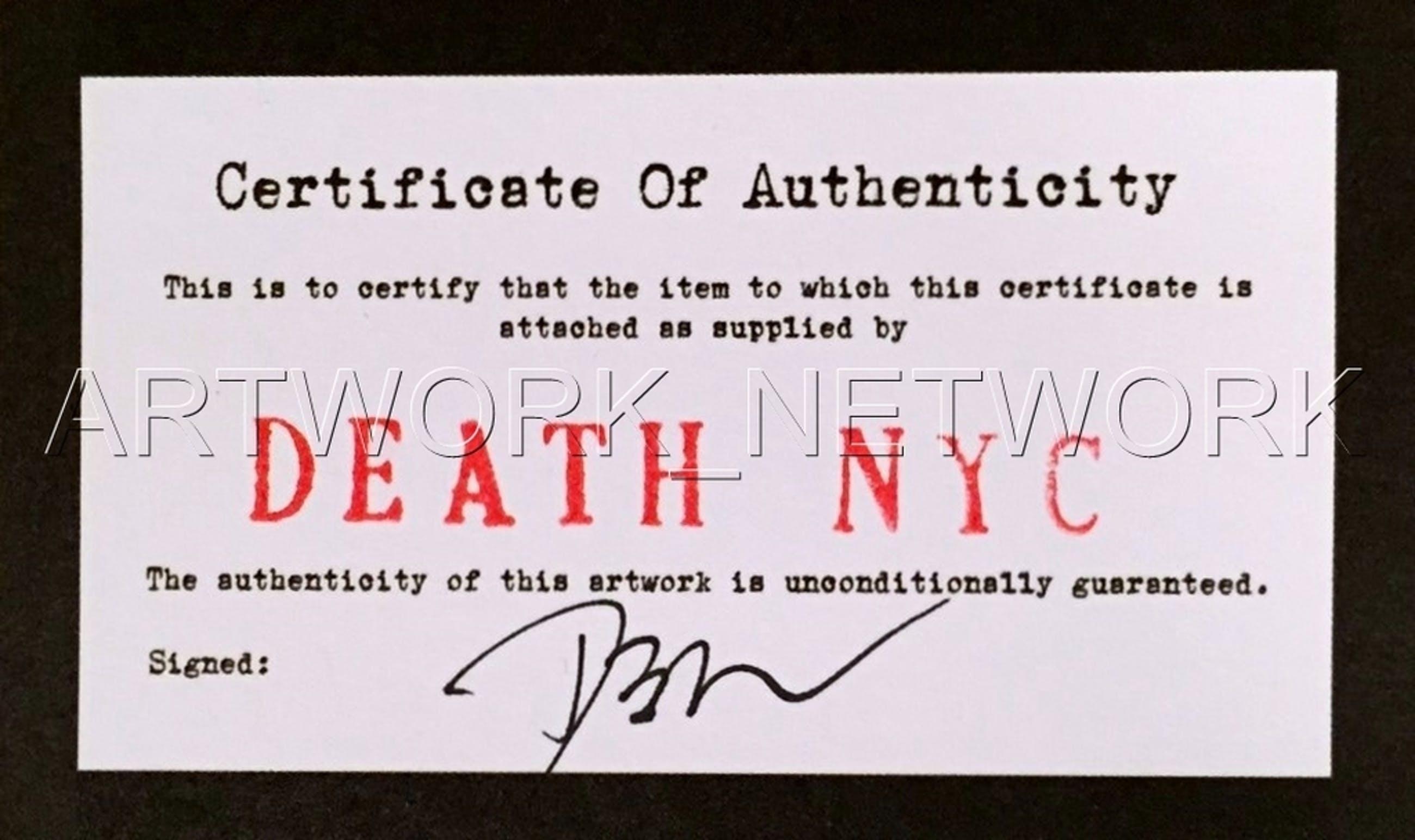 "DEATH NYC - ""Monroe Gun""- n° A/P - Signed with COA (Edition Artist Proof) kopen? Bied vanaf 25!"
