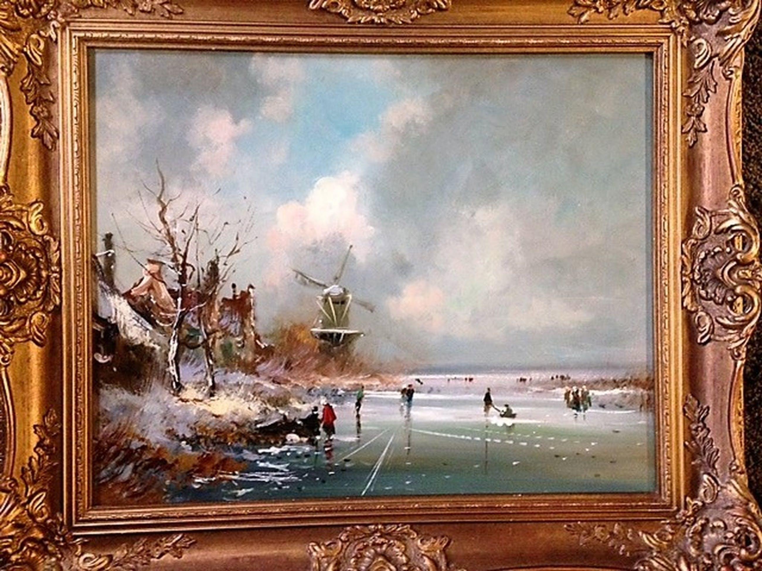 Onbekende kunstenaar, olieverf op paneel, Oud Hollands IJsvermaak kopen? Bied vanaf 120!